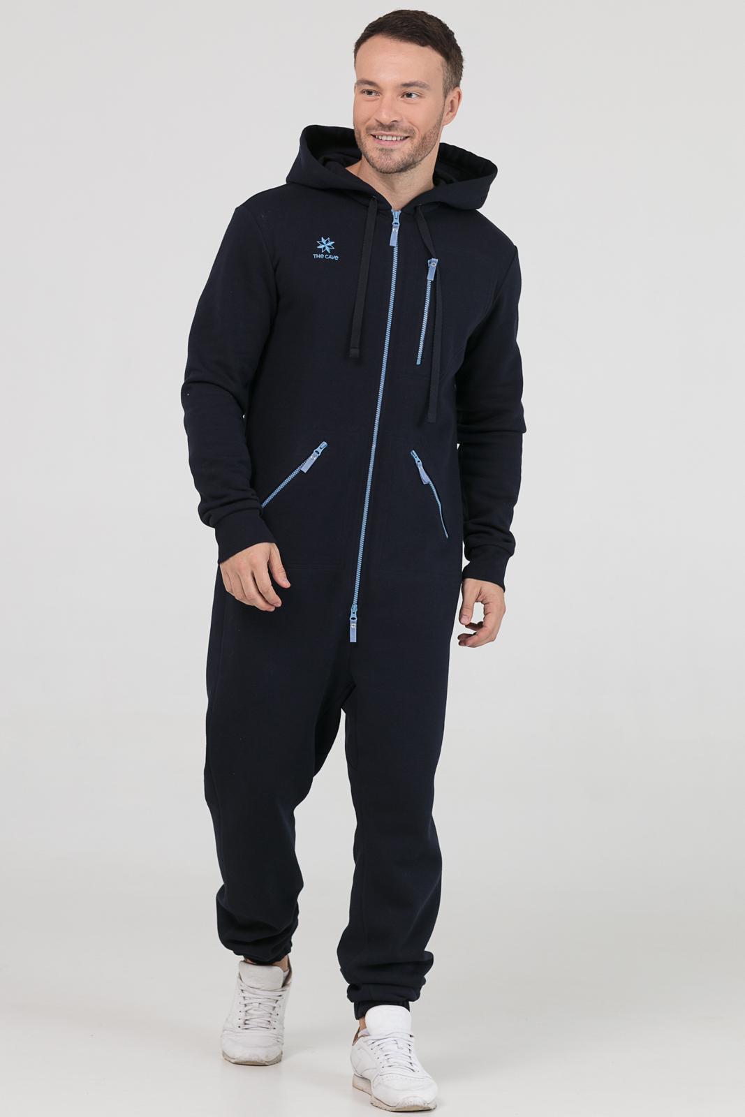 Купить Комбинезон темно-синий мужской из текстиля, МОСМЕХА, 6600384
