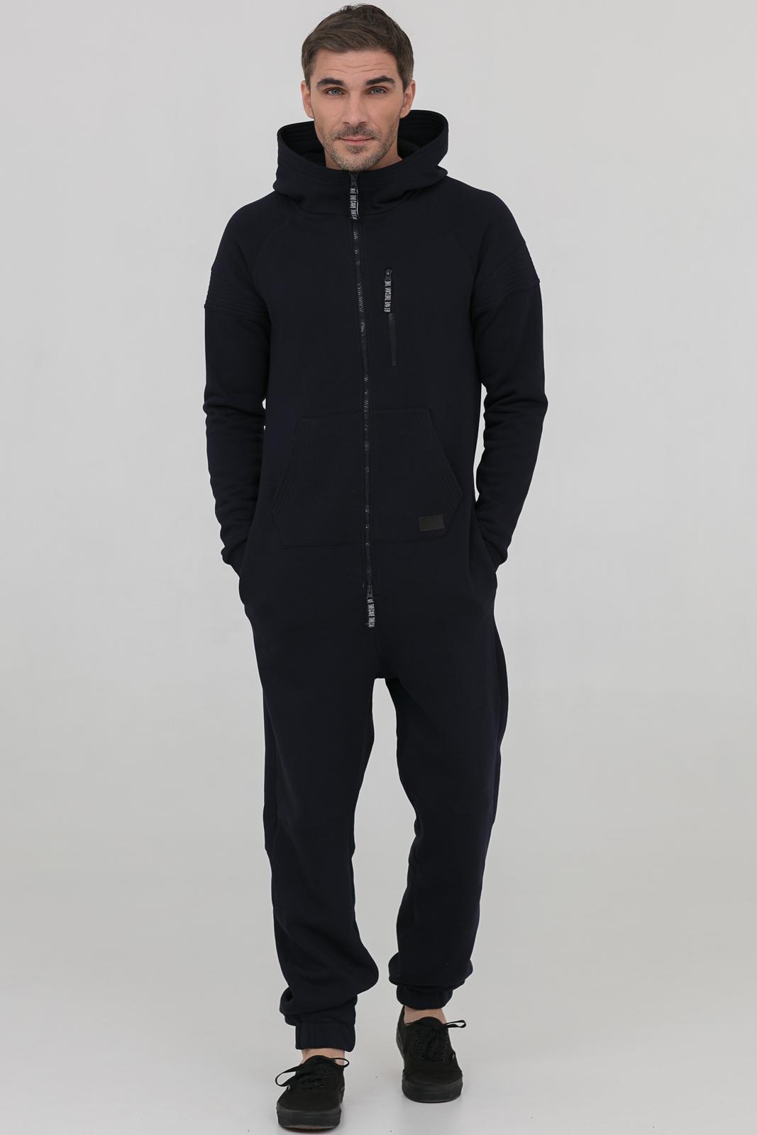 Купить Комбинезон темно-синий мужской из текстиля, МОСМЕХА, 6600389