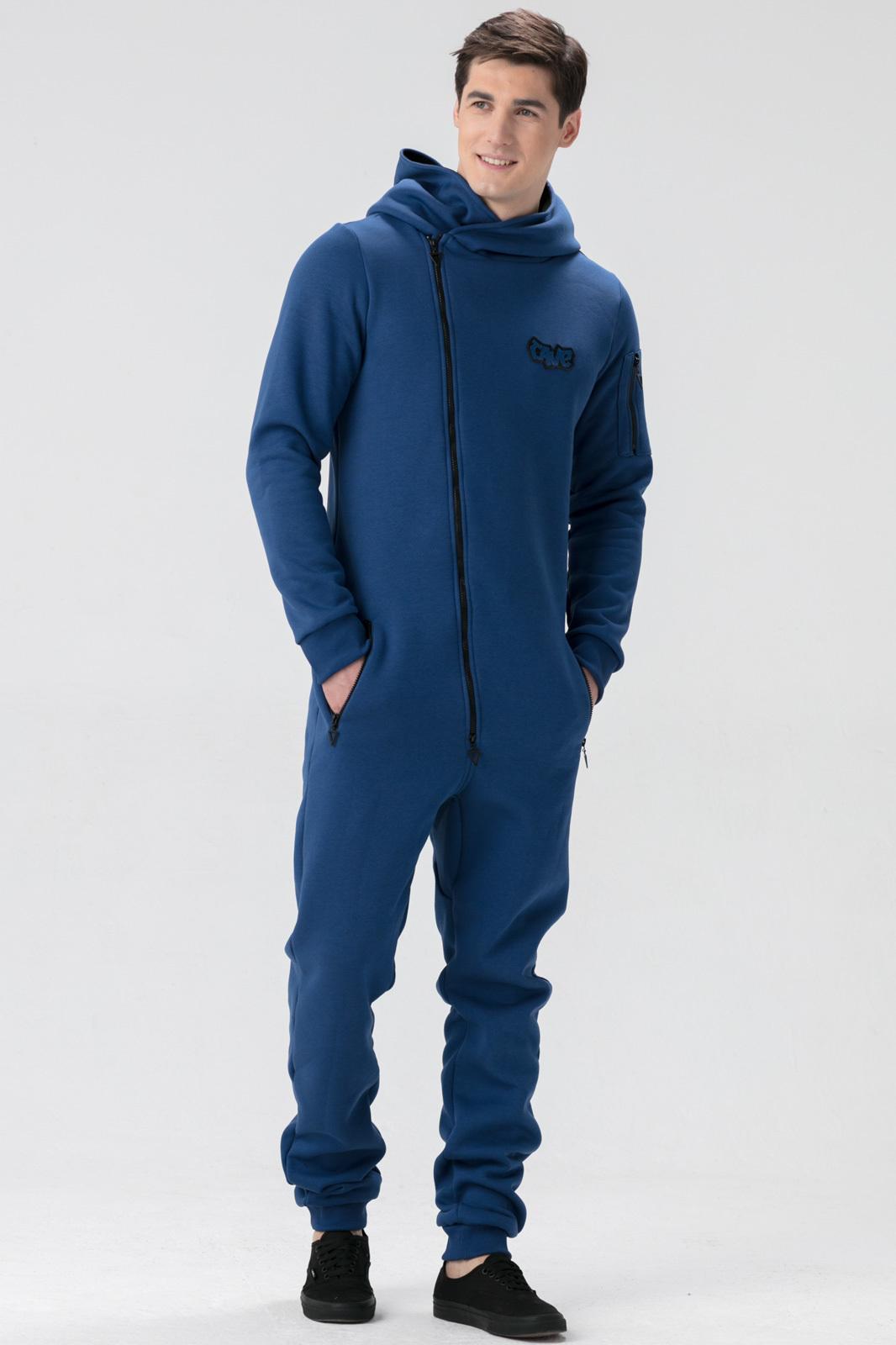 Купить Комбинезон индиго мужской из текстиля, МОСМЕХА, синий, 6600396