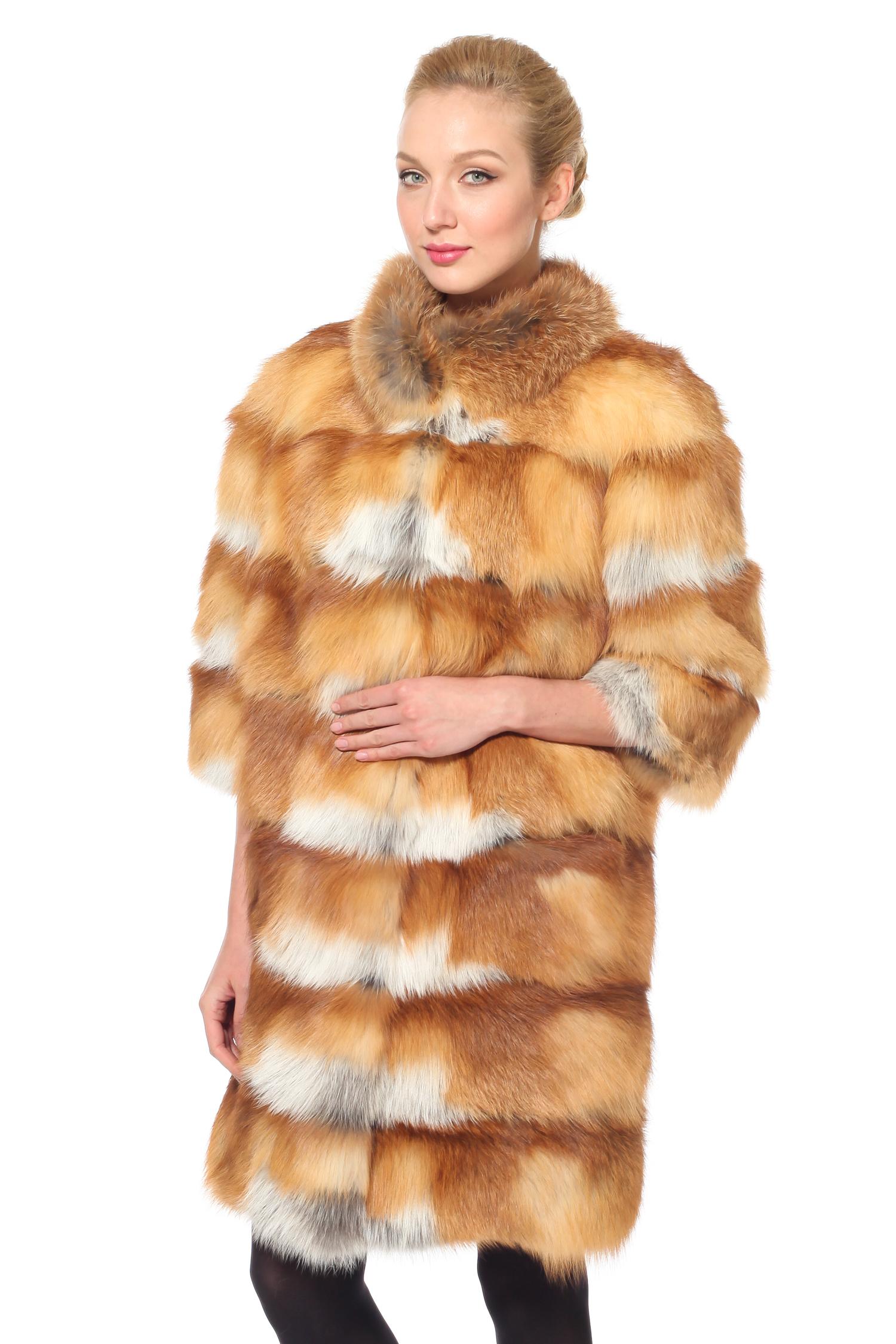 МОСМЕХА color temperature шуба из меха лисы