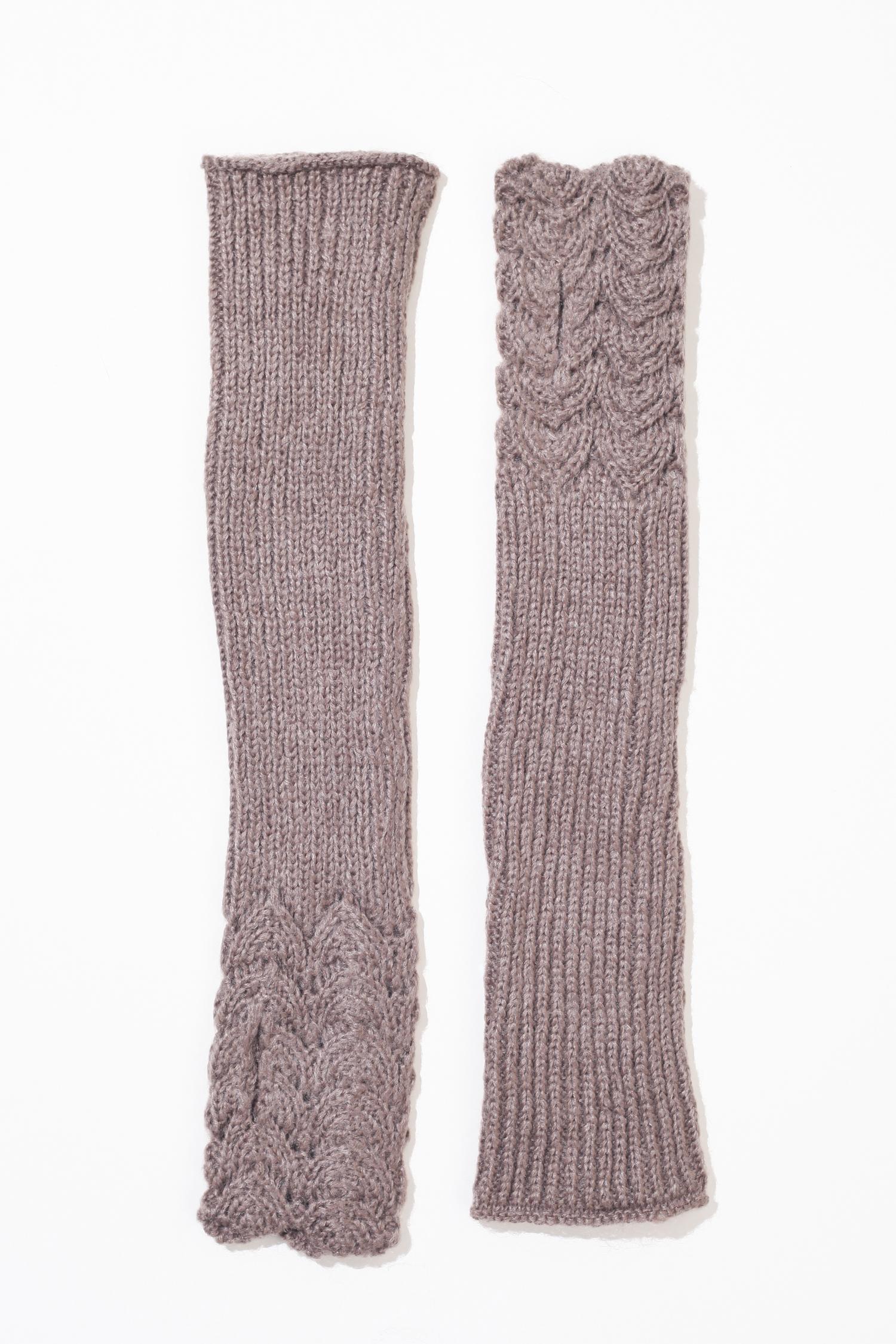 Купить Митенки женские из текстиля, МОСМЕХА, бежевый, Текстиль, 0100121