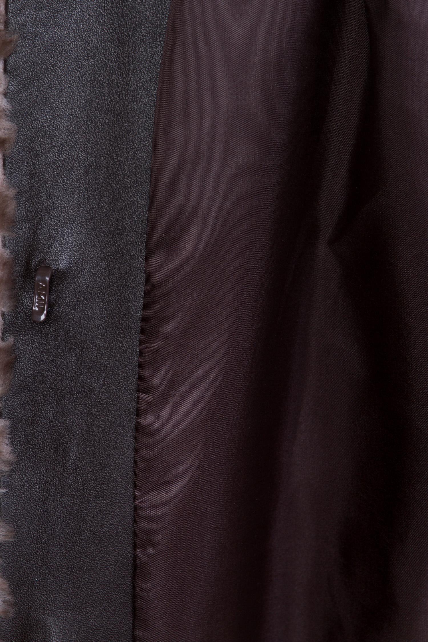 Шуба из мутона с капюшоном, без отделки