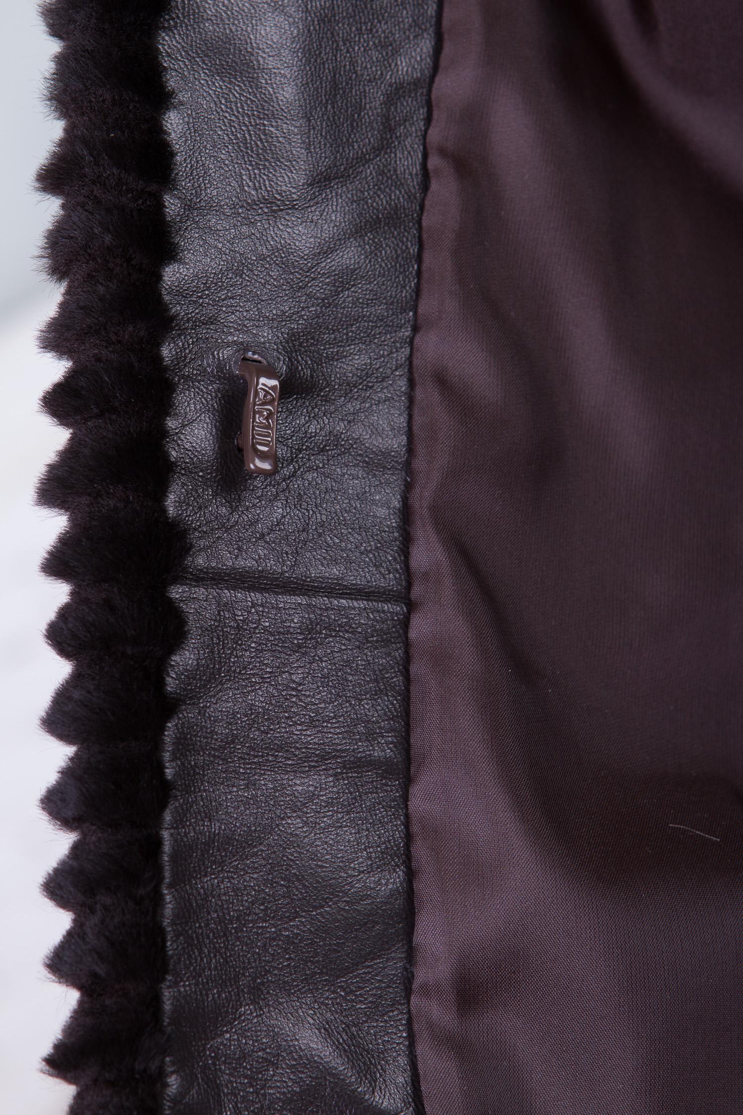 Норковая шуба с отделкой мехом соболя