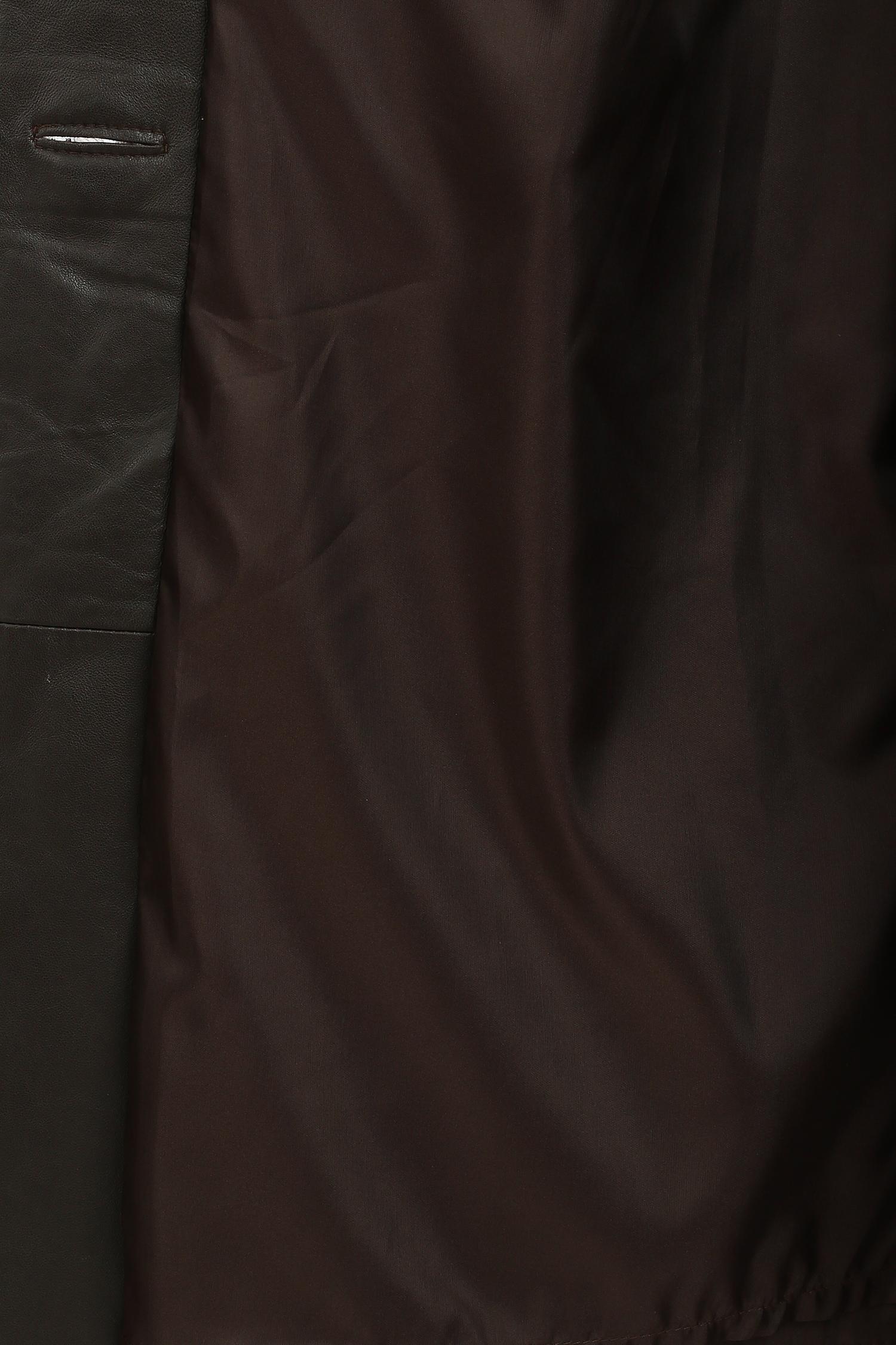 Шуба из мутона с капюшоном, отделка норка