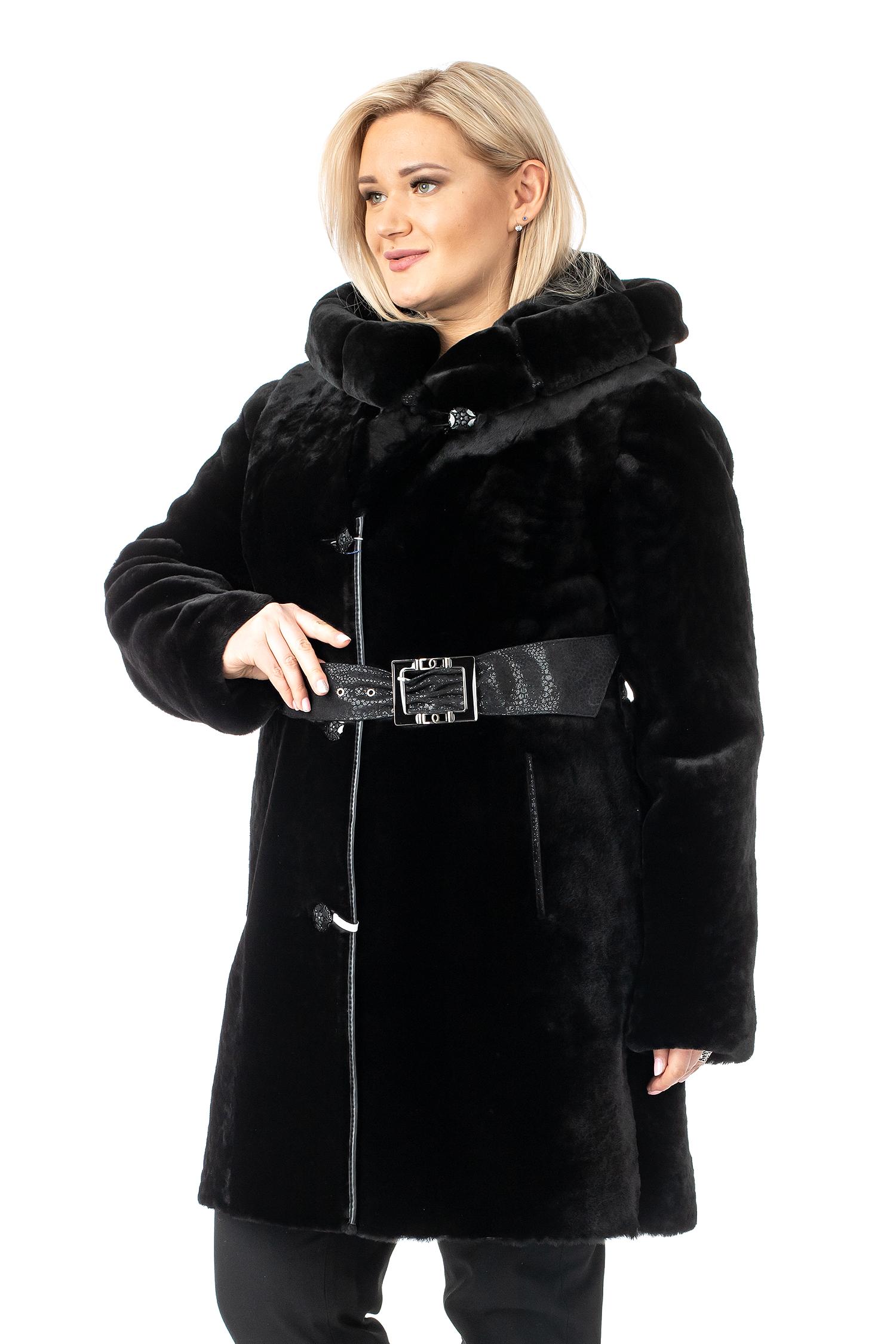 МОСМЕХА полуприлегающая шуба с капюшоном aliance fur