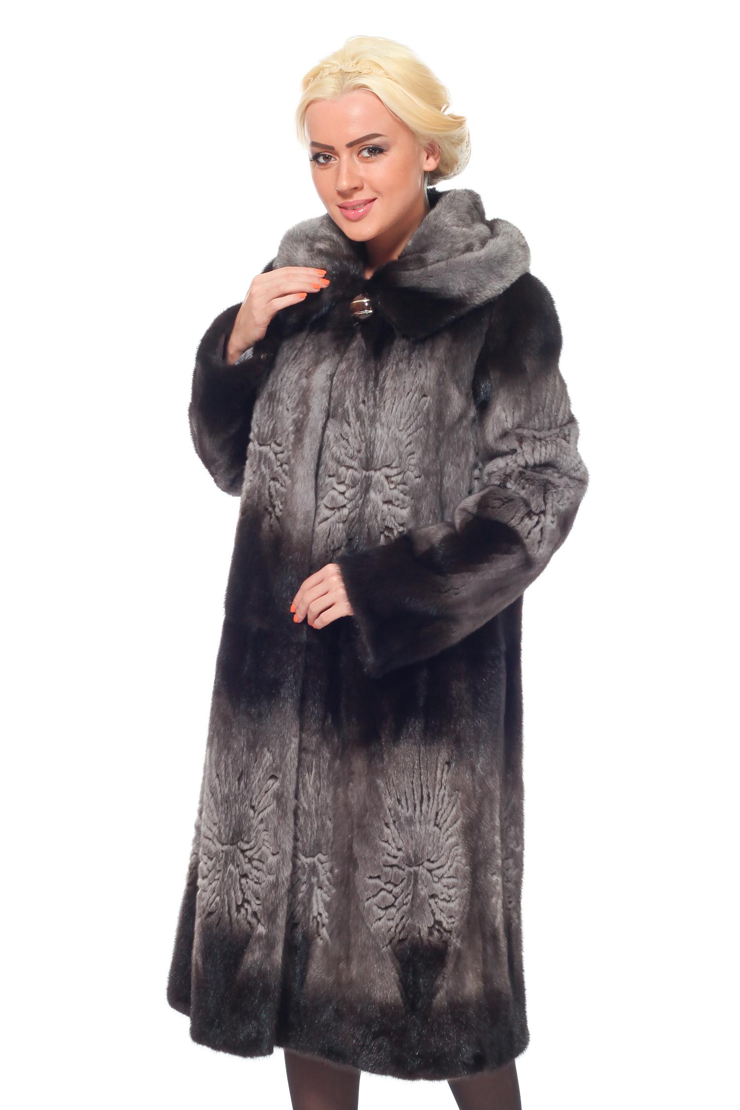Меховая куртка с капюшоном Москва