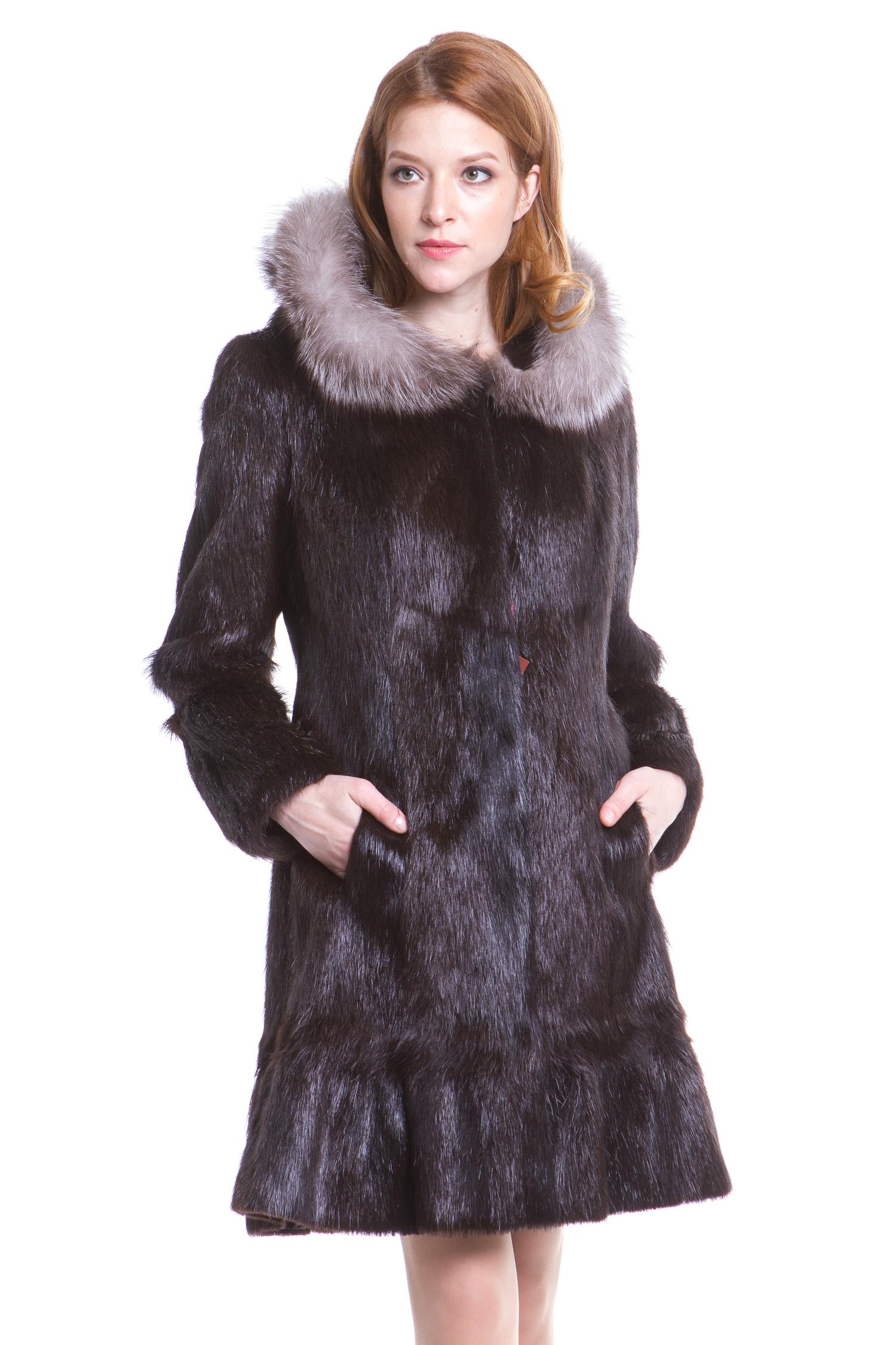 пальто из меха нутрии л-10 024 Blue Label