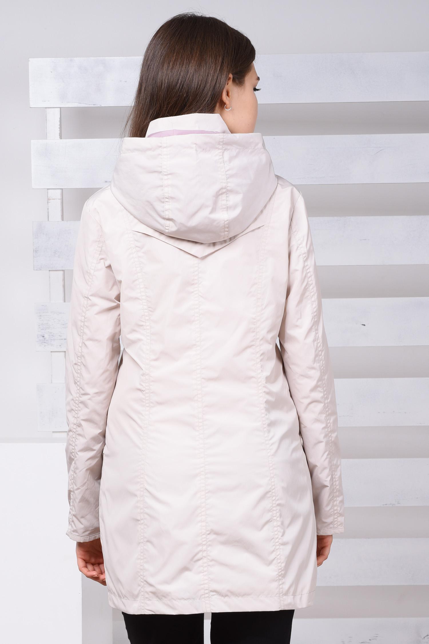 Ветровка женская из текстиля с капюшоном, без отделки