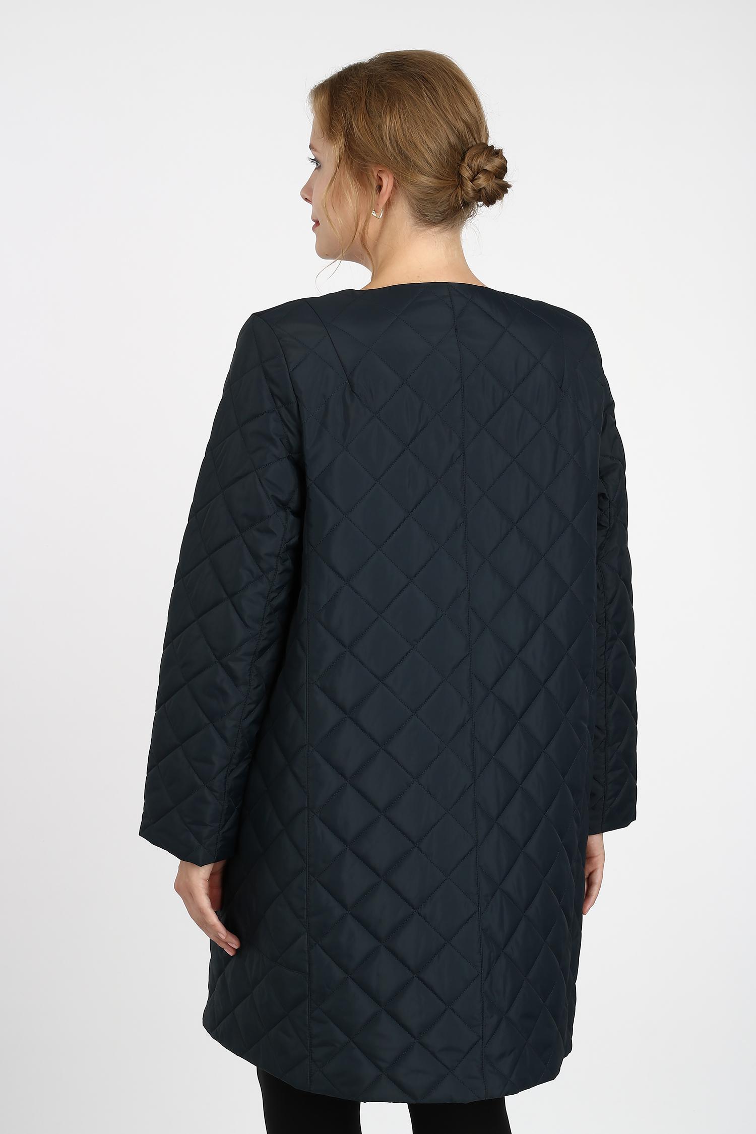 Куртка женская из текстиля без воротника, без отделки