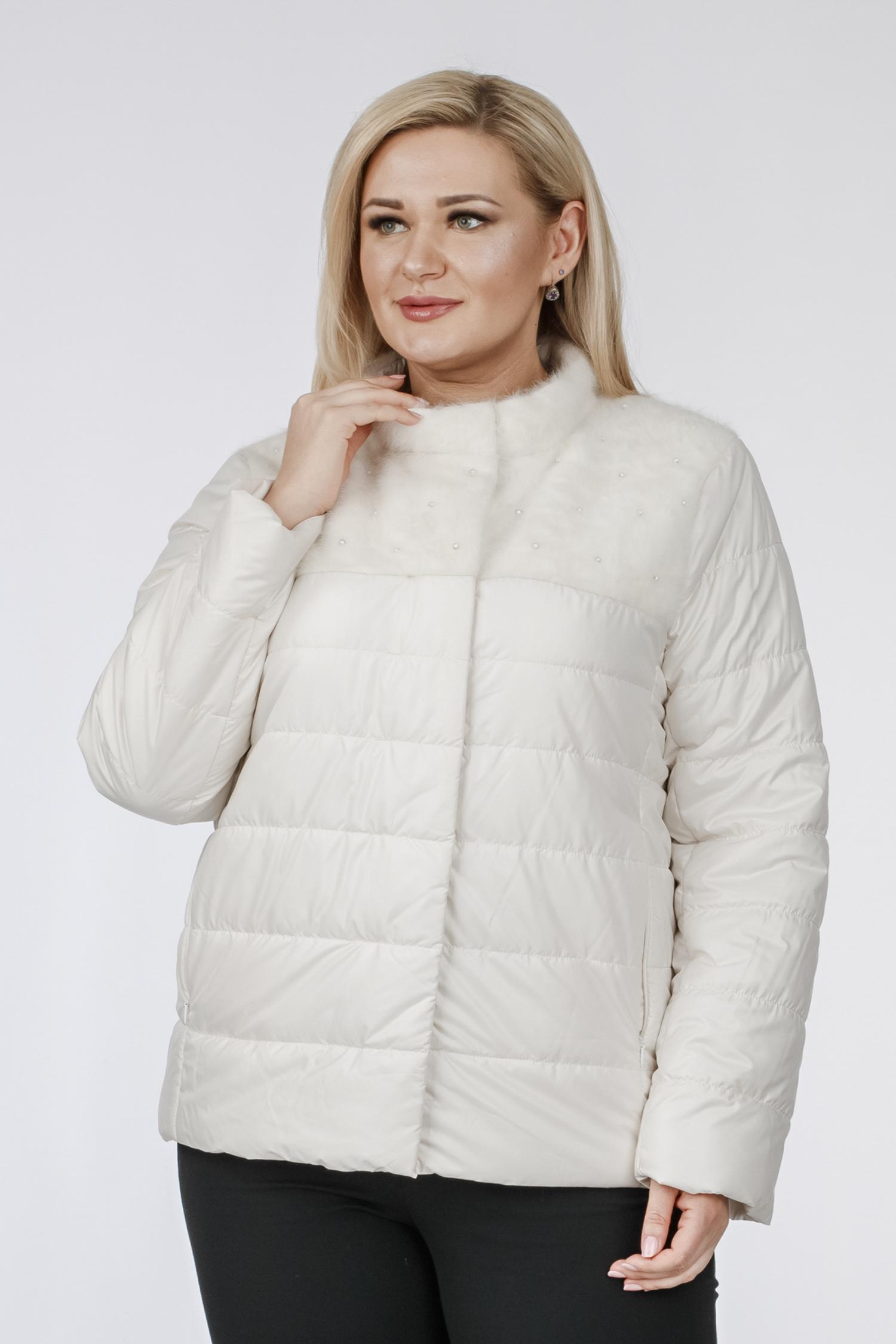Куртка женская из текстиля с воротником