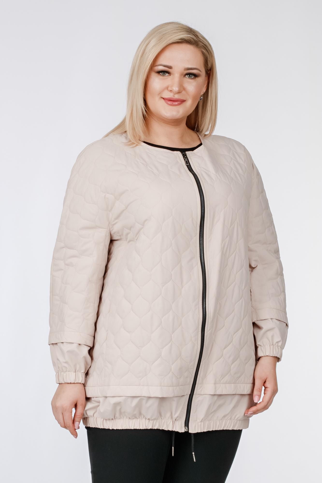 Куртка женская из текстиля без воротника