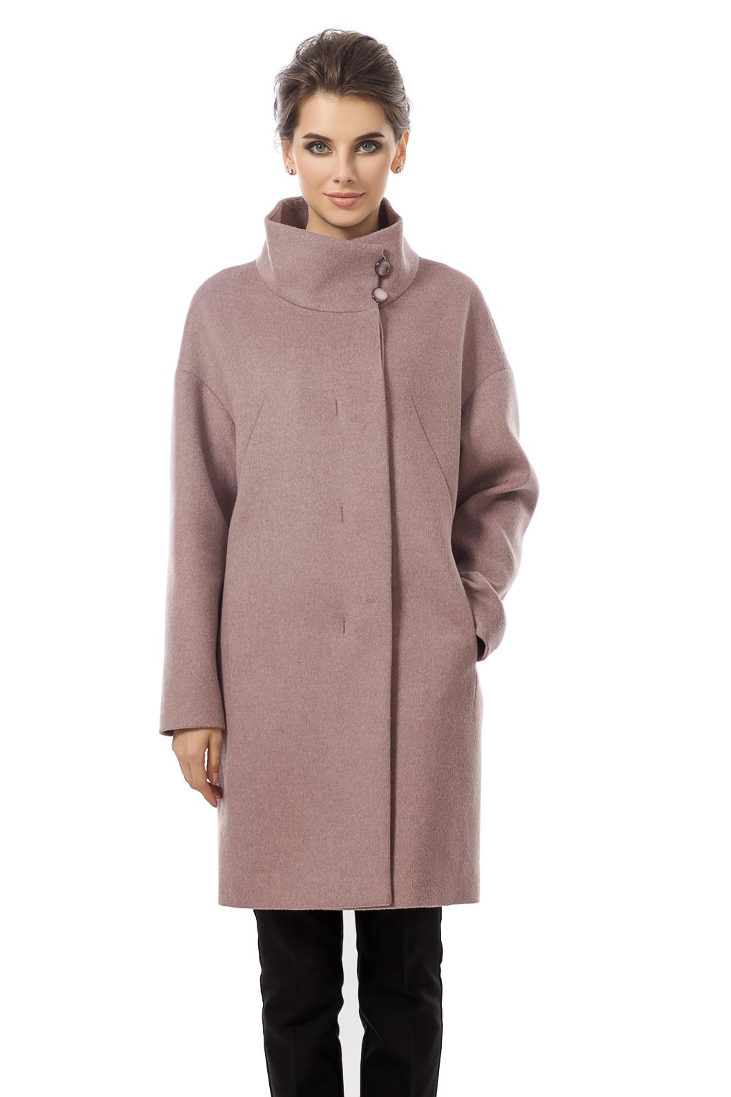 Женское пальто из текстиля с воротником ab287de8ceb3a