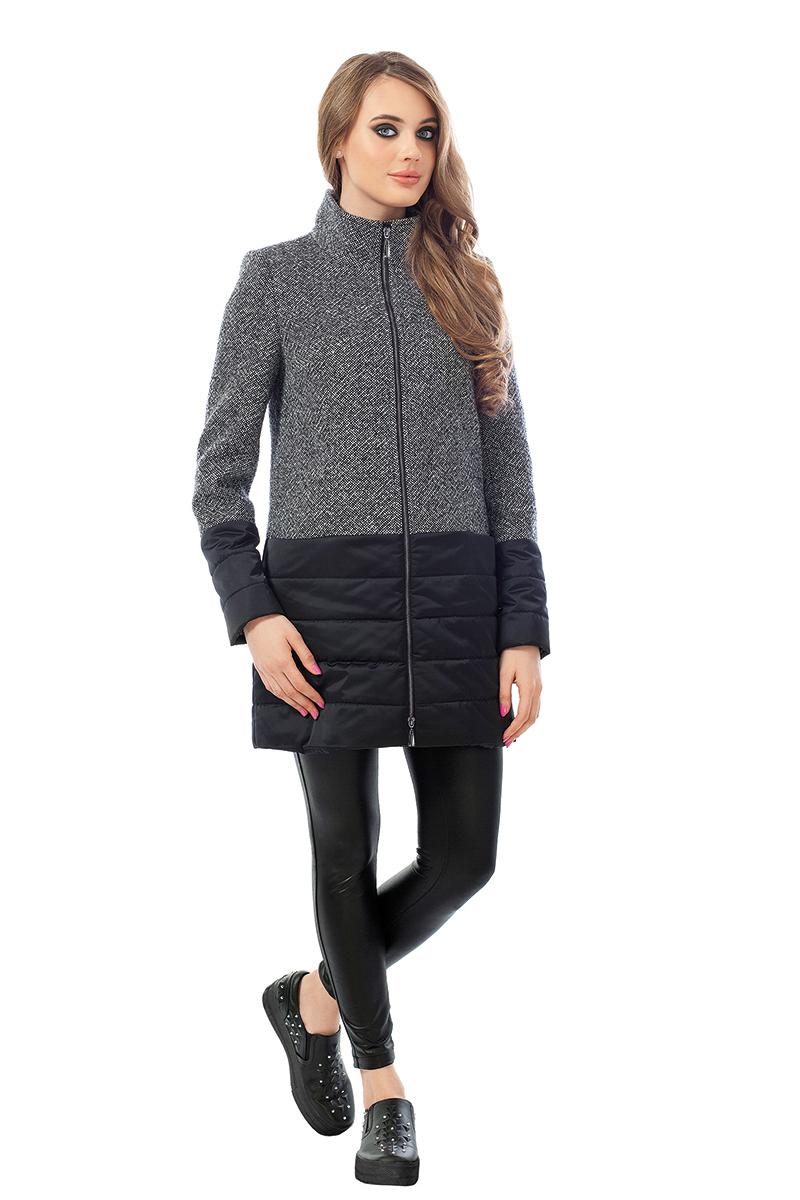 Женская кожаная куртка из натуральной кожи без воротника, без отделки