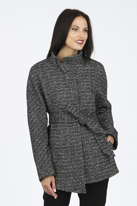 Купить со скидкой Женское пальто из текстиля с воротником