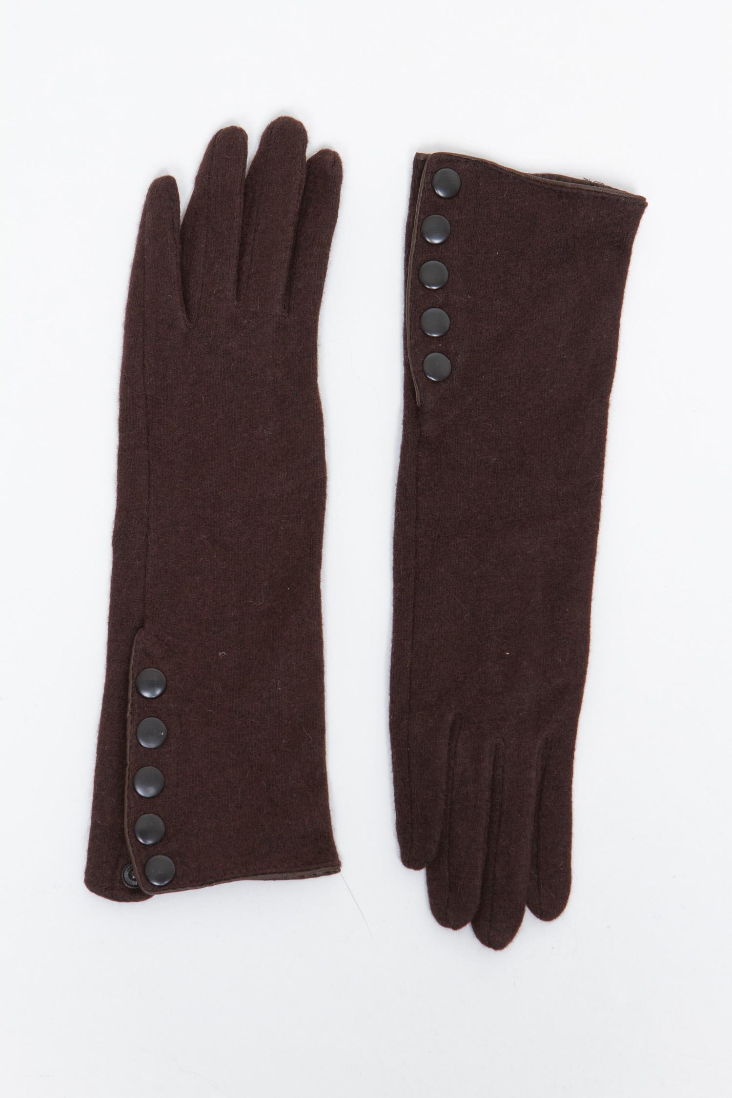 Купить Перчатки женские из текстиля, МОСМЕХА, коричневый, Текстиль, 0100165