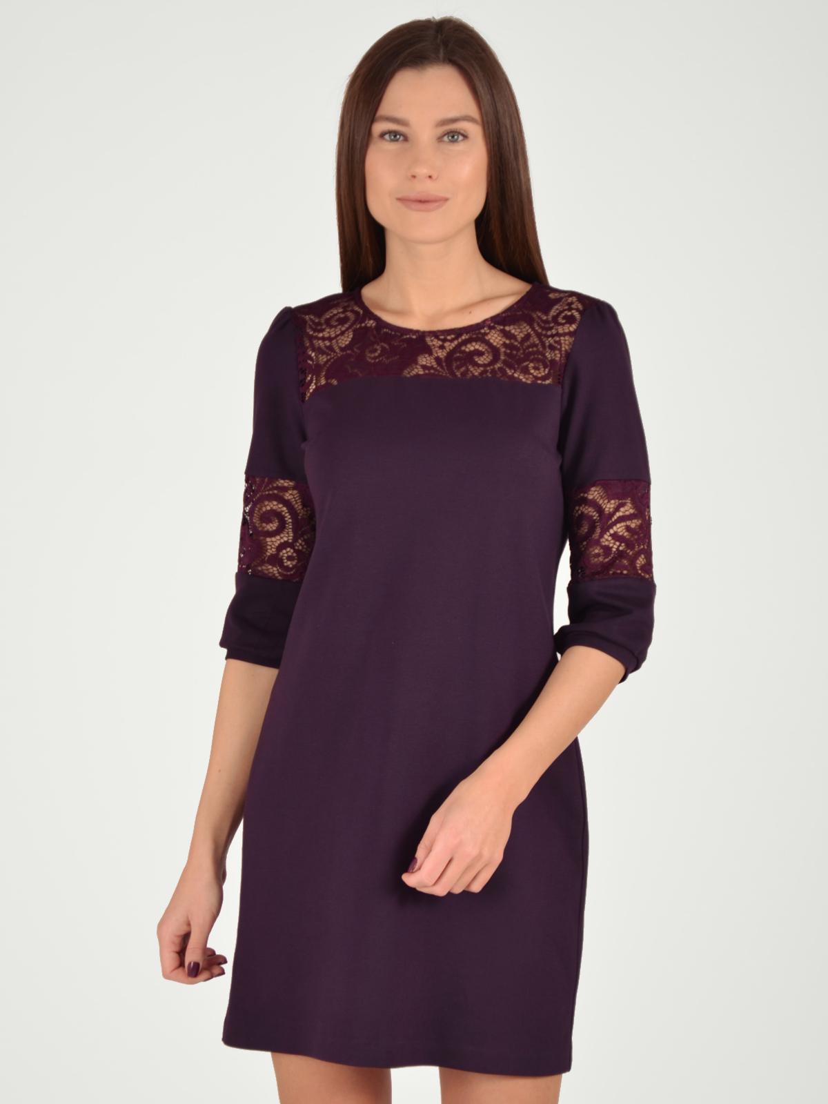 Купить Платье женское из текстиля, МОСМЕХА, фиолетовый, 5100039
