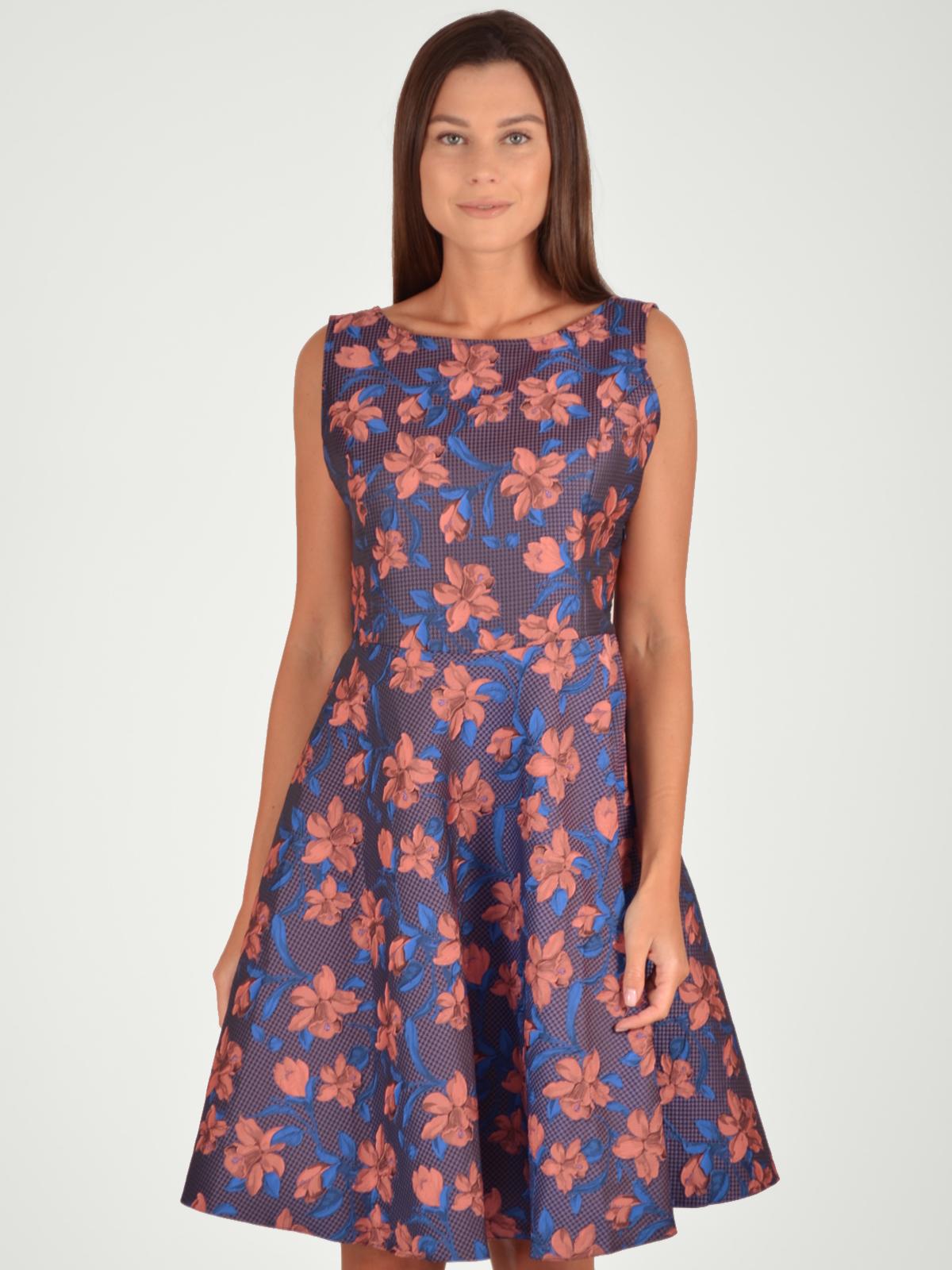 МОСМЕХА платье без рукавов с кружевной вставкой на спинке