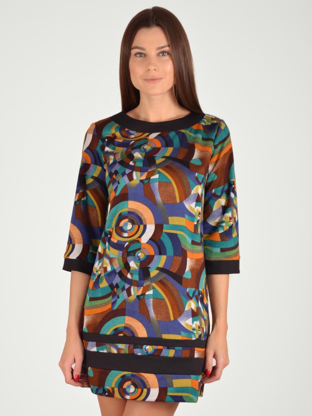 Купить Платье женское из текстиля, МОСМЕХА, коричневый, 5100231