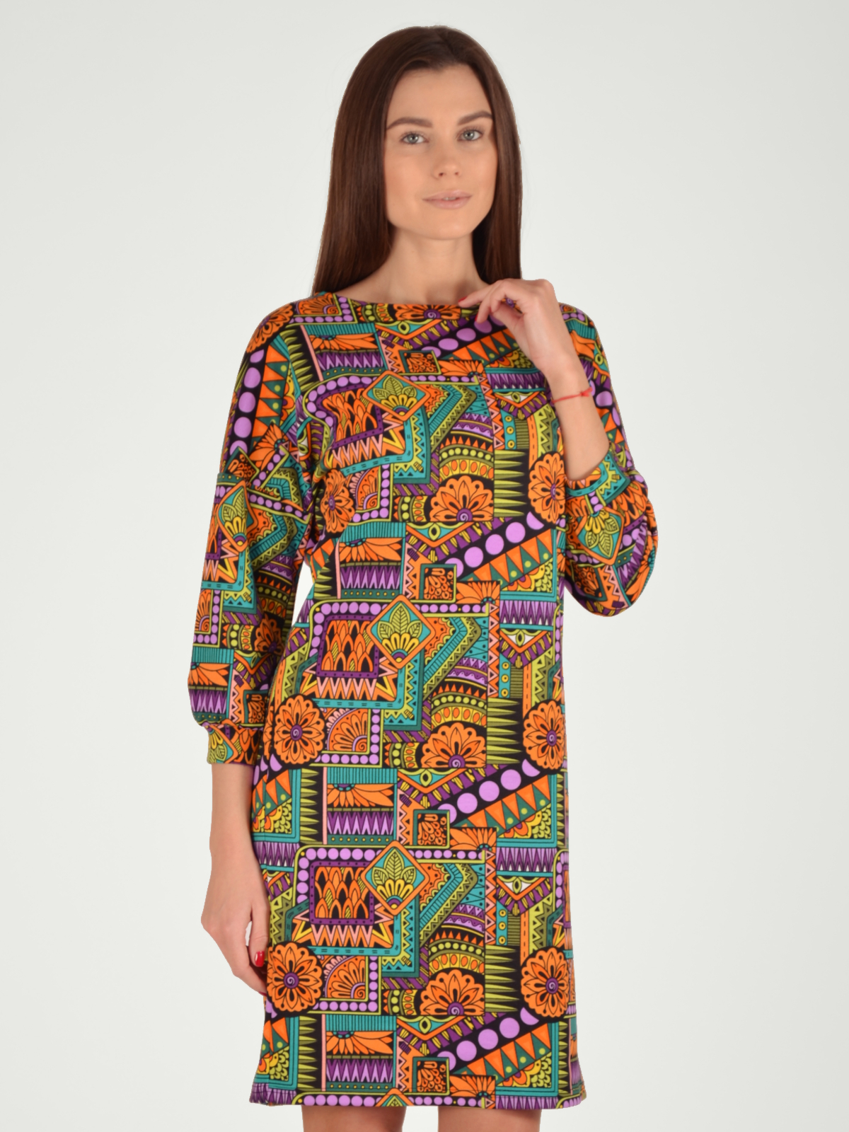 МОСМЕХА приталенное платье с рукавом 3 4 eva davidova приталенное платье с рукавом 3 4