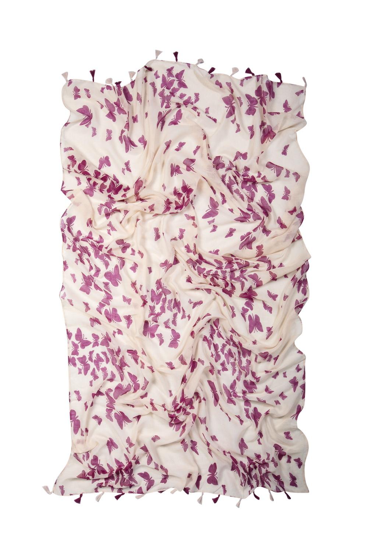 Купить Палантин, МОСМЕХА, фиолетовый, Текстиль, 0511635