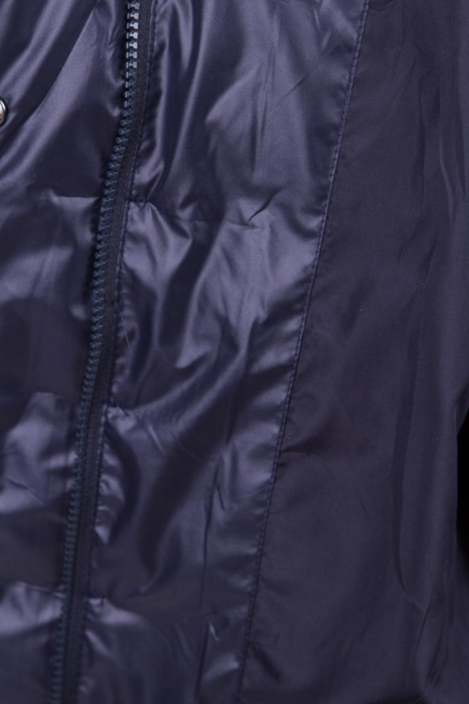 Женское пальто из текстиля с капюшоном, отделка песец