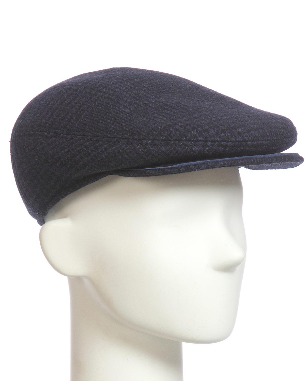 Купить Шапка мужская из текстиля, МОСМЕХА, синий, Текстиль, 0601126