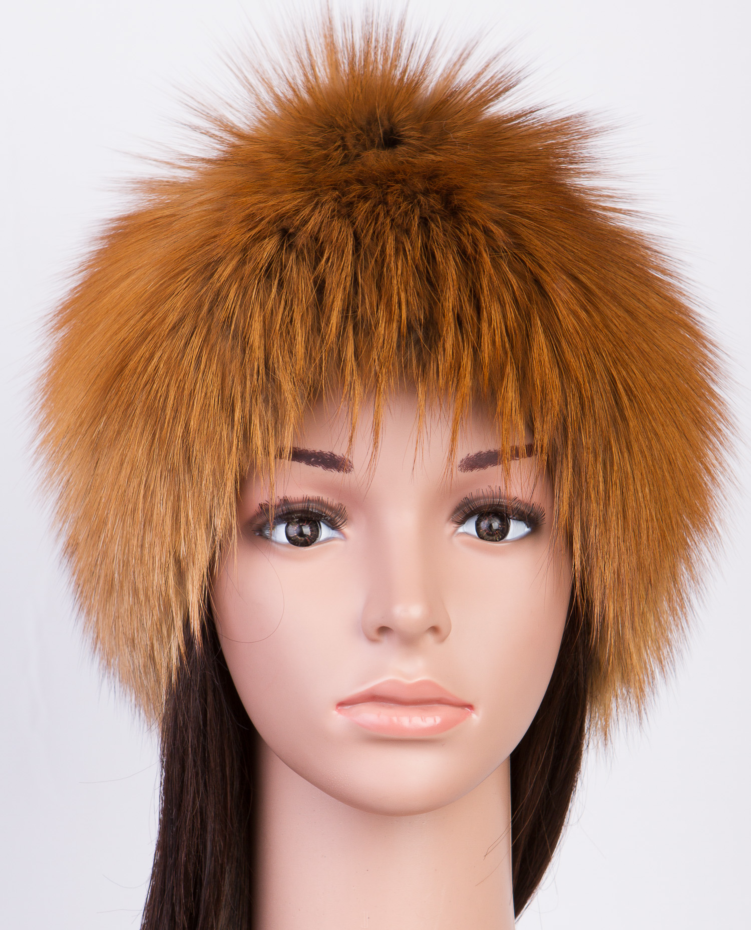 Купить со скидкой Шапка женская из лисы