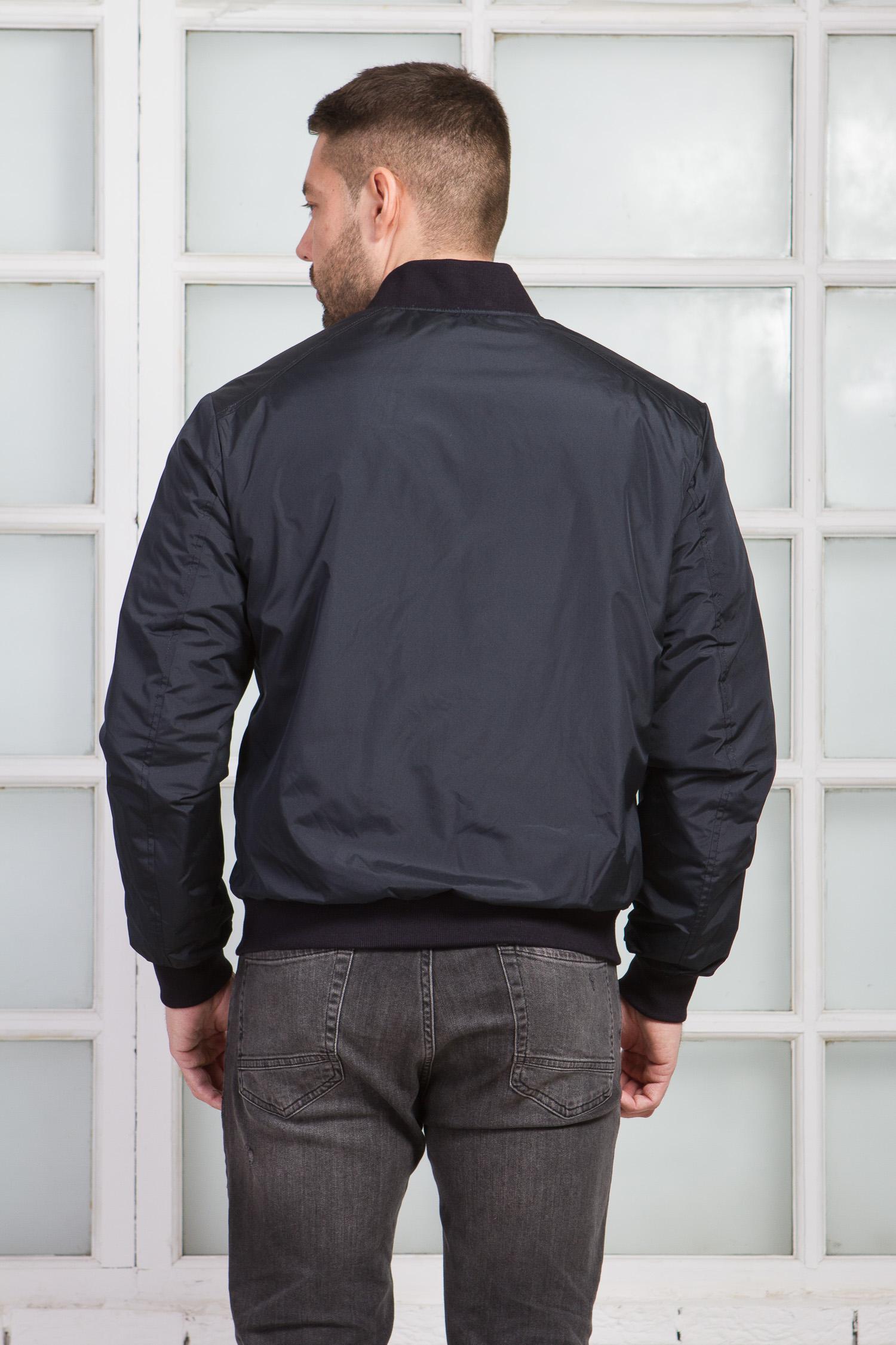 Мужская куртка из текстиля  с воротником, без отделки