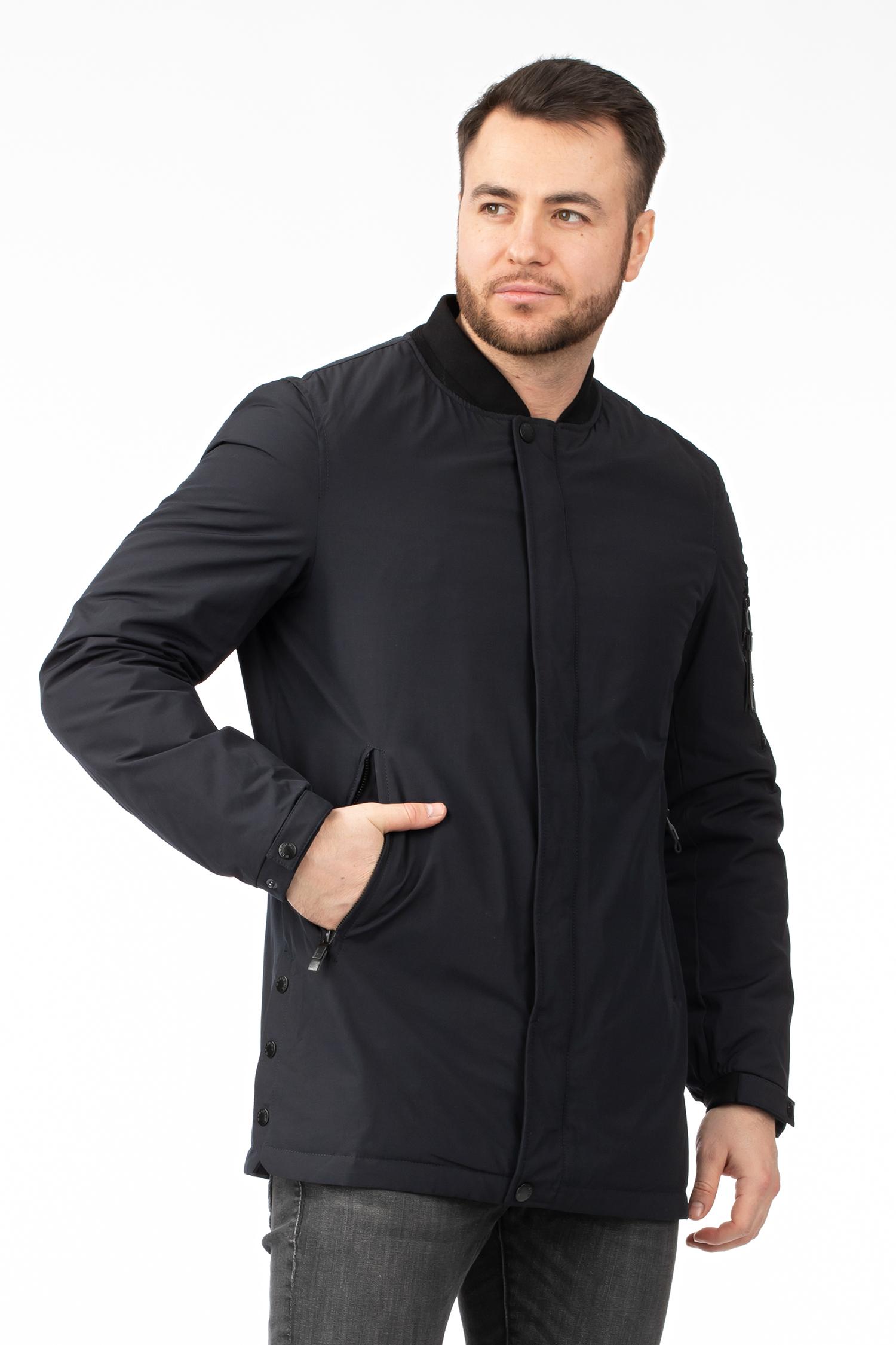 Купить со скидкой Мужская куртка из текстиля с воротником