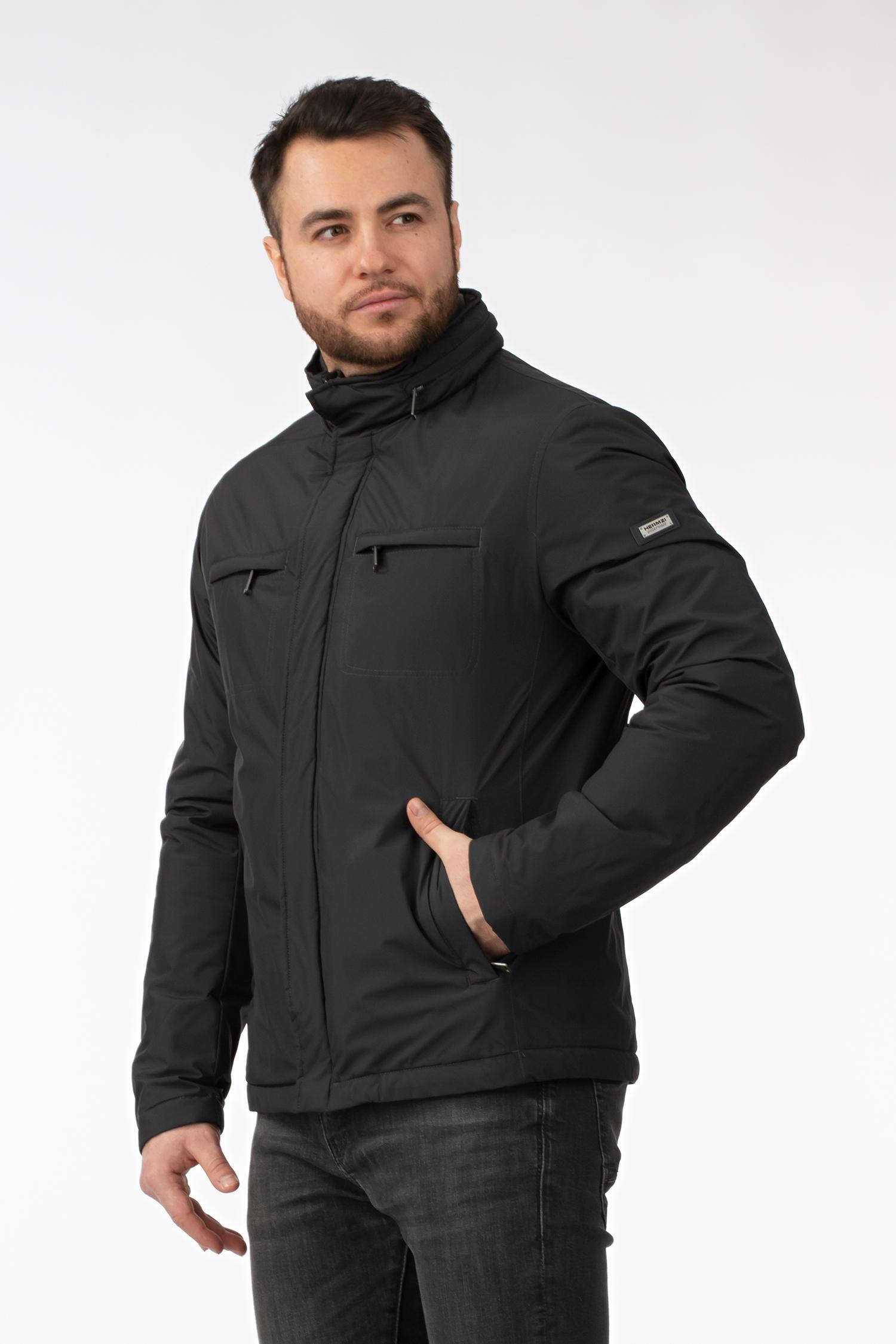 Мужская куртка из текстиля с капюшоном
