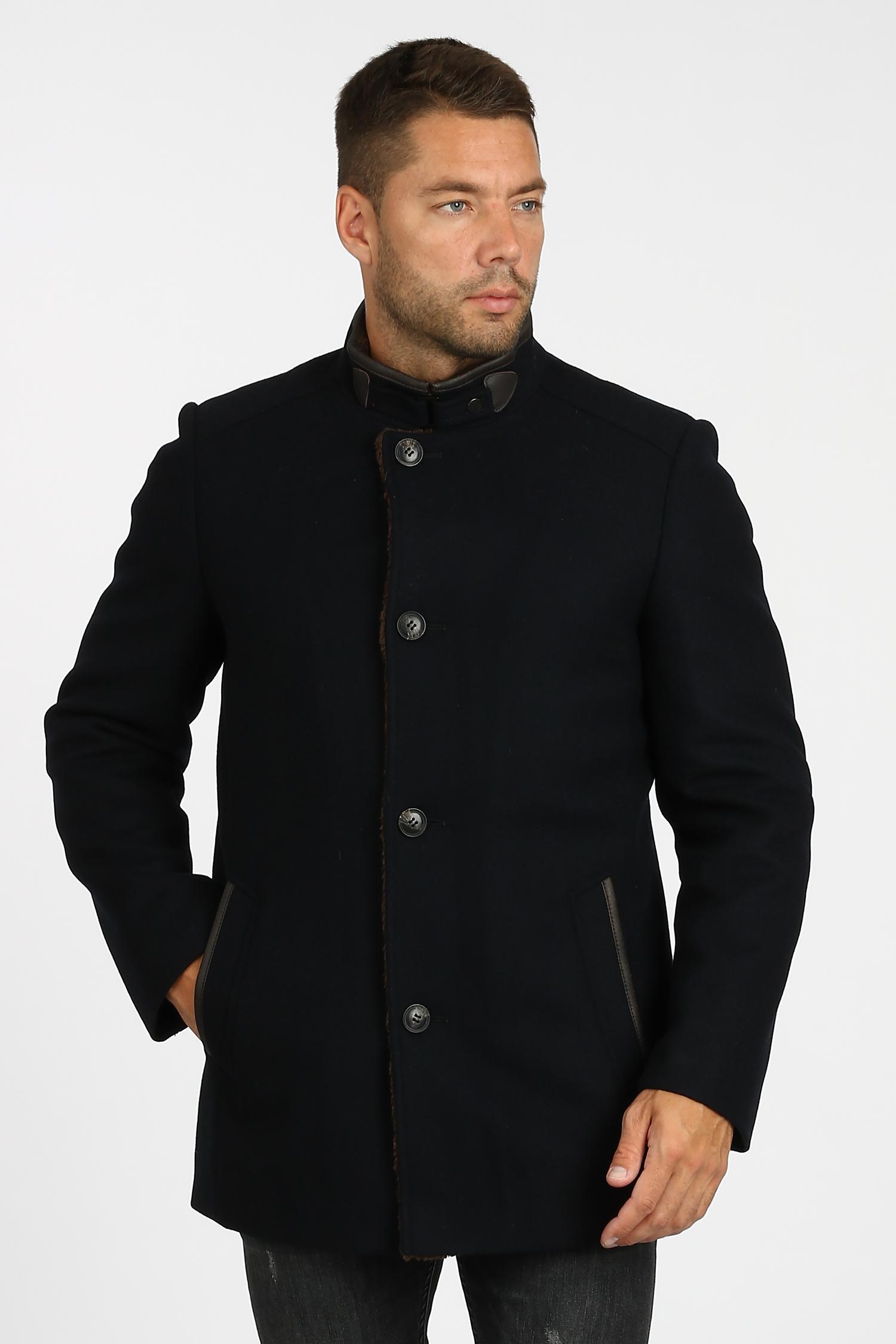 Купить со скидкой Мужское пальто из текстиля с воротником, отделка искусственный мех