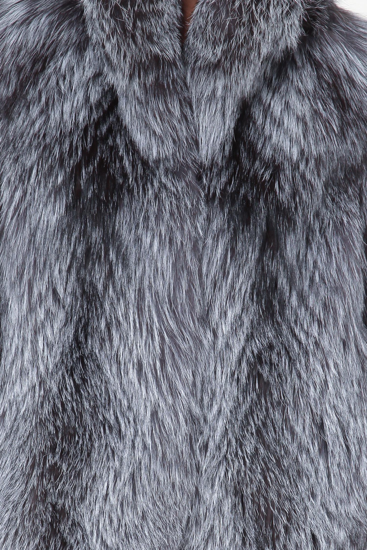 Куртка из лисы с воротником без отделки от Московская Меховая Компания