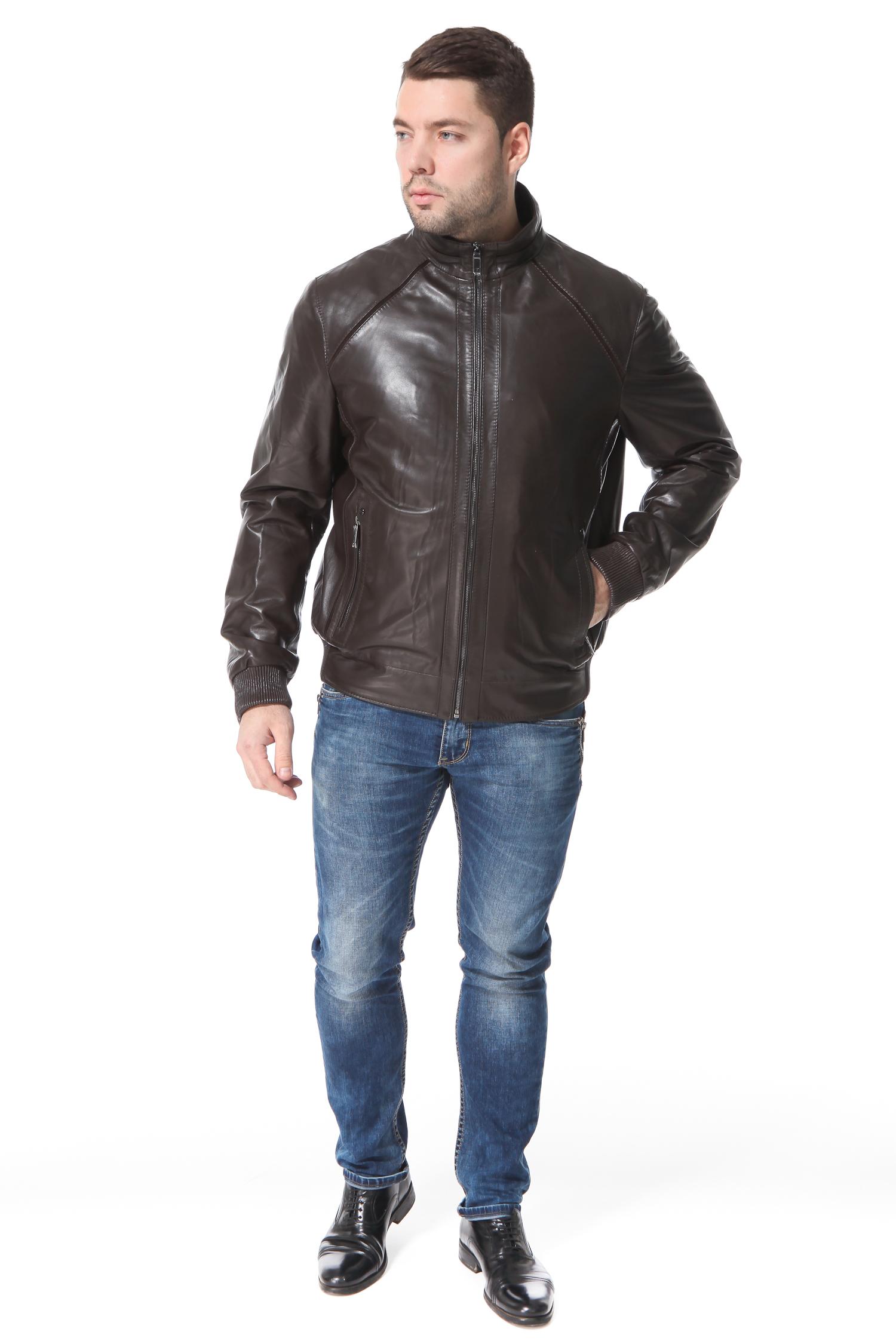 Мужская кожаная куртка из натуральной кожи
