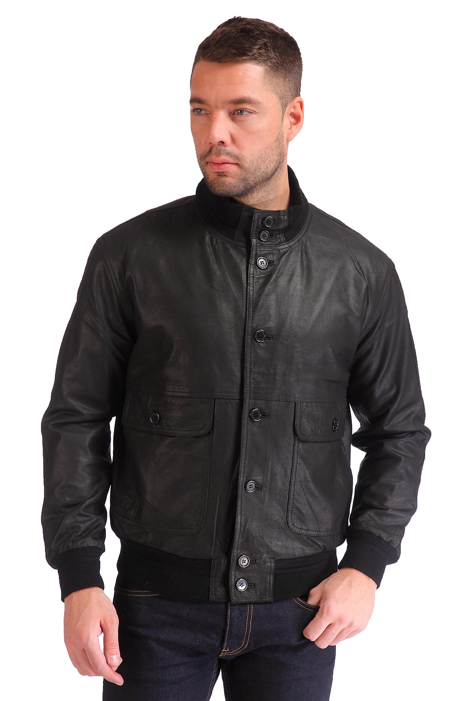 Мужская кожаная куртка из натуральной замши