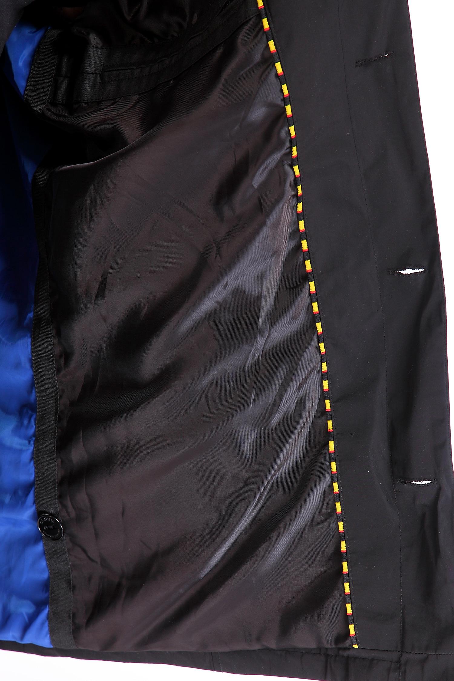 Фото 2 - Мужская куртка из текстиля с воротником, отделка искусственная кожа от МОСМЕХА черного цвета