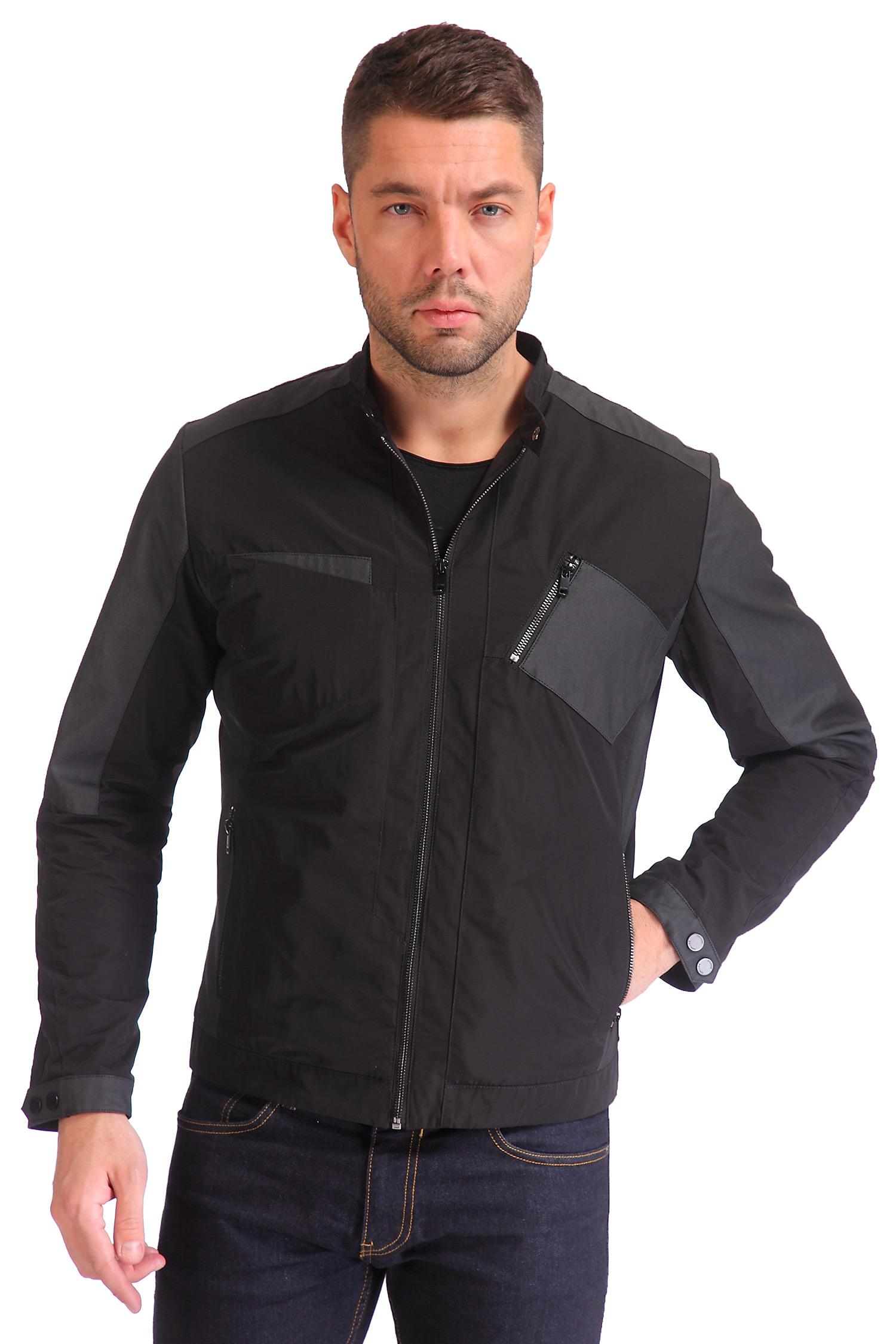 Мужская куртка из текстиля с воротником, без отделки<br><br>Длина см: Длинная (свыше 90)<br>Материал: Текстиль<br>Цвет: черный<br>Пол: Мужской<br>Размер RU: 54