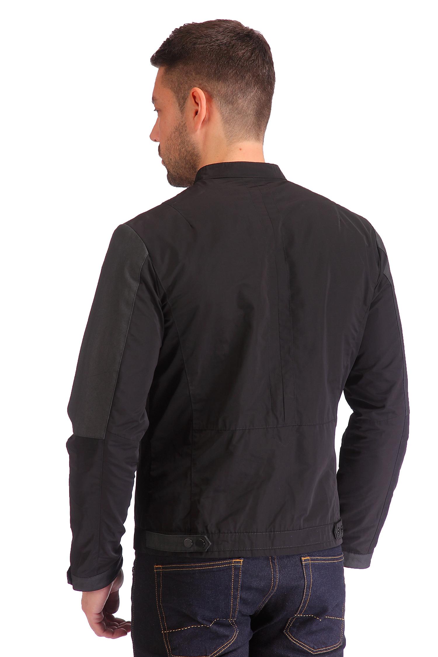 Фото 4 - Мужская куртка из текстиля с воротником от МОСМЕХА черного цвета