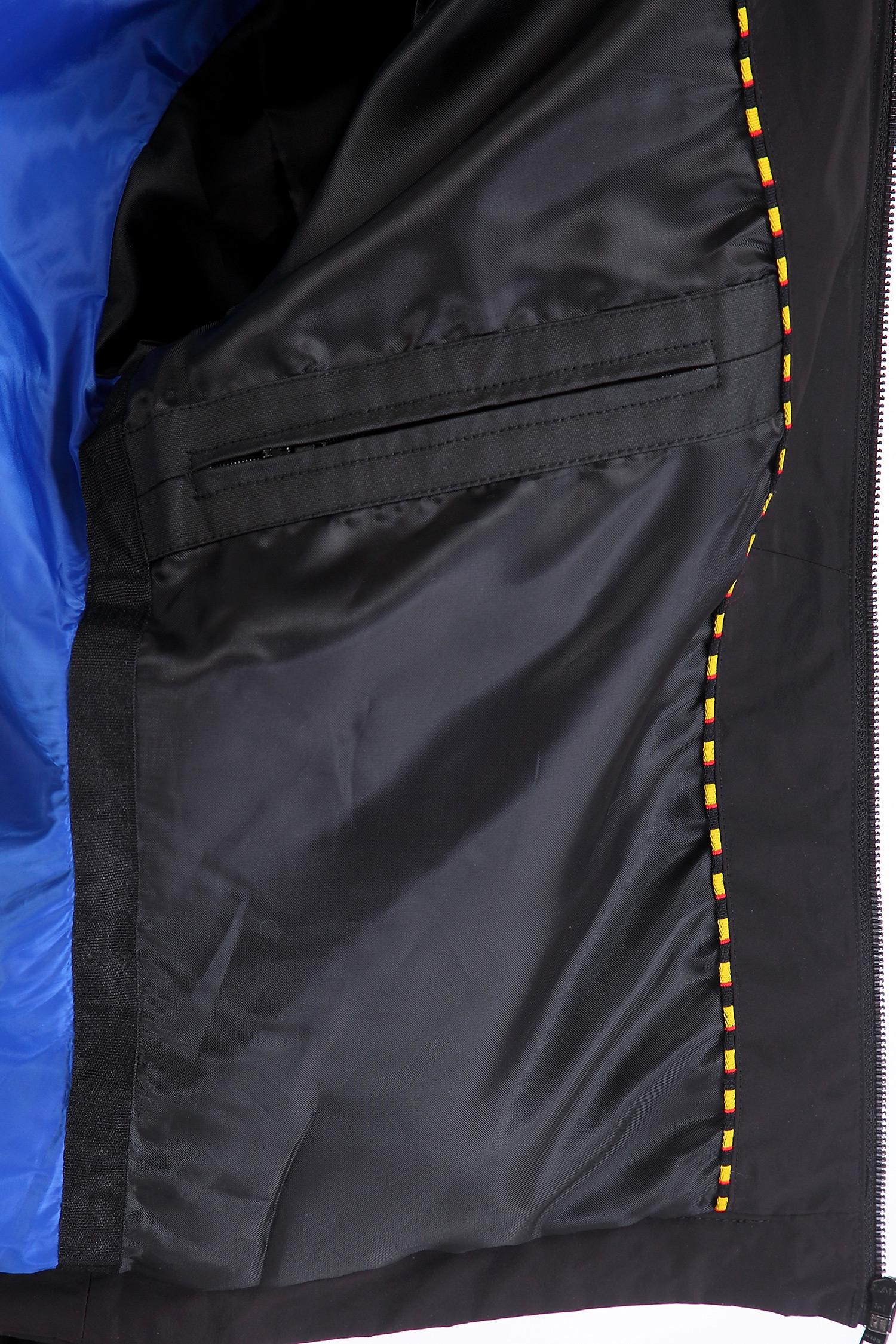Фото 2 - Мужская куртка из текстиля с воротником от МОСМЕХА черного цвета