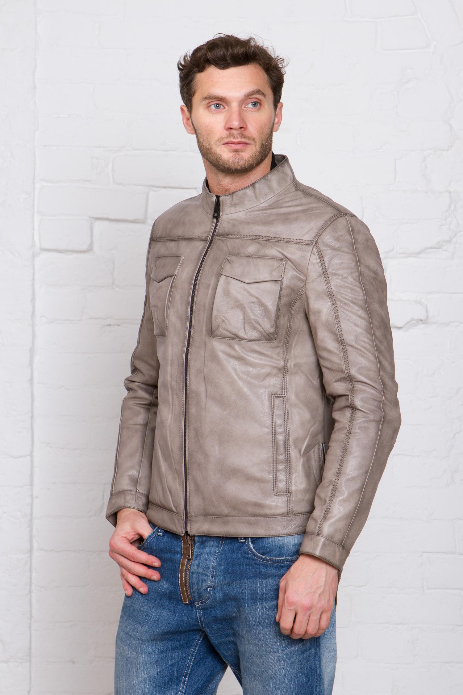 Мужская кожаная куртка из натуральной кожи Московская Меховая Компания