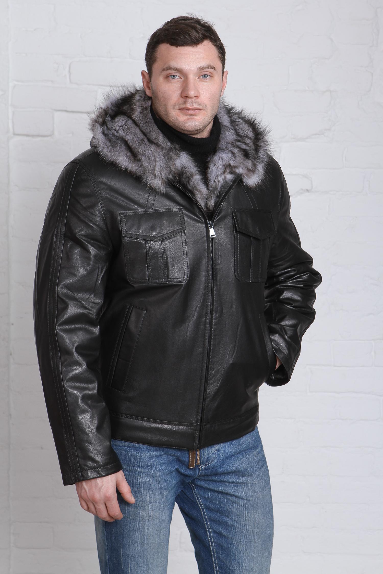 Мужская кожаная куртка из натуральной кожи с капюшоном, отделка тоскана<br><br>Воротник: капюшон<br>Длина см: Короткая (51-74 )<br>Материал: Кожа овчина<br>Цвет: черный<br>Вид застежки: центральная<br>Застежка: на молнии<br>Пол: Мужской<br>Размер RU: 58