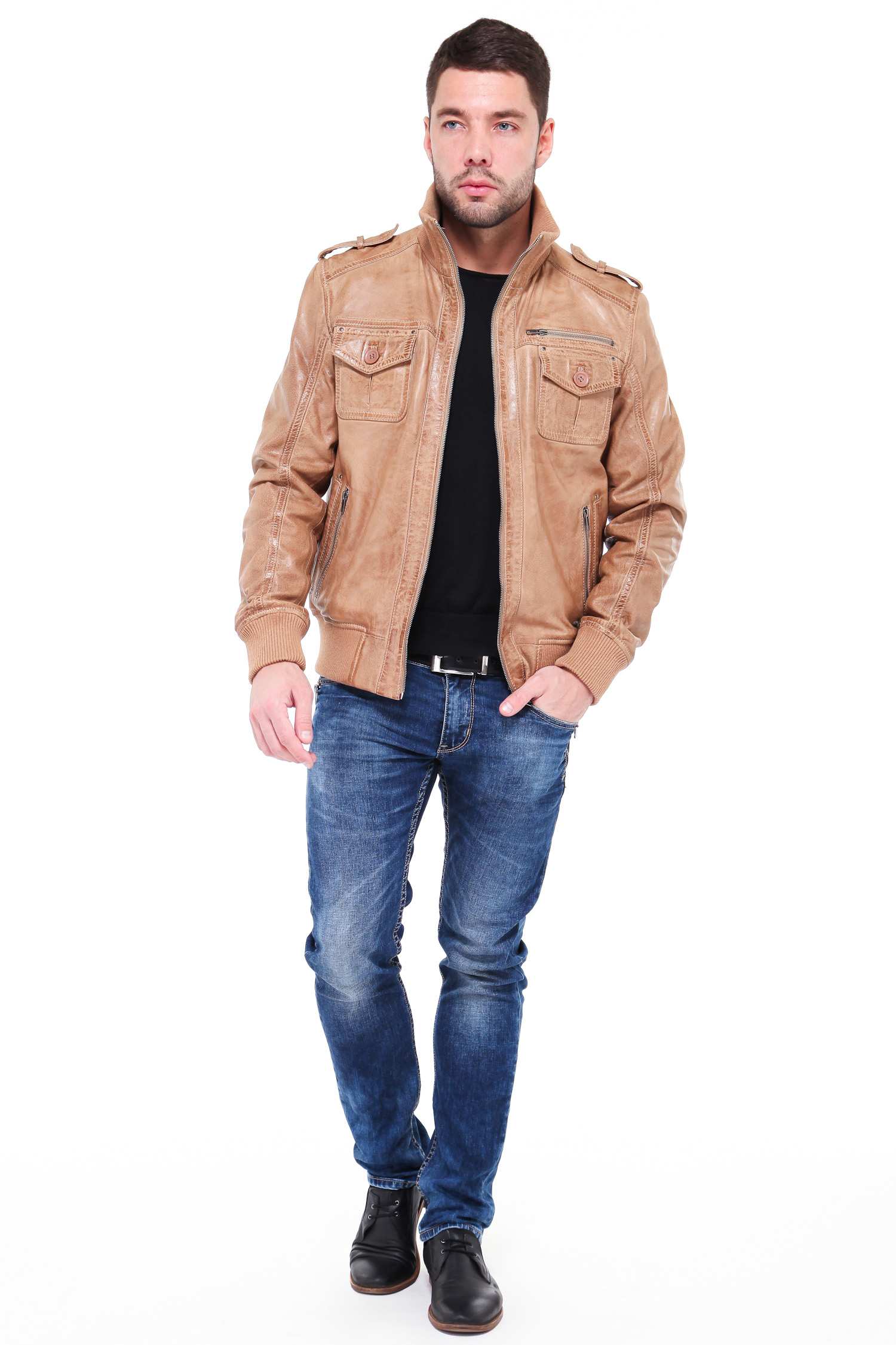 Мужская кожаная куртка из натуральной кожи от Московская Меховая Компания