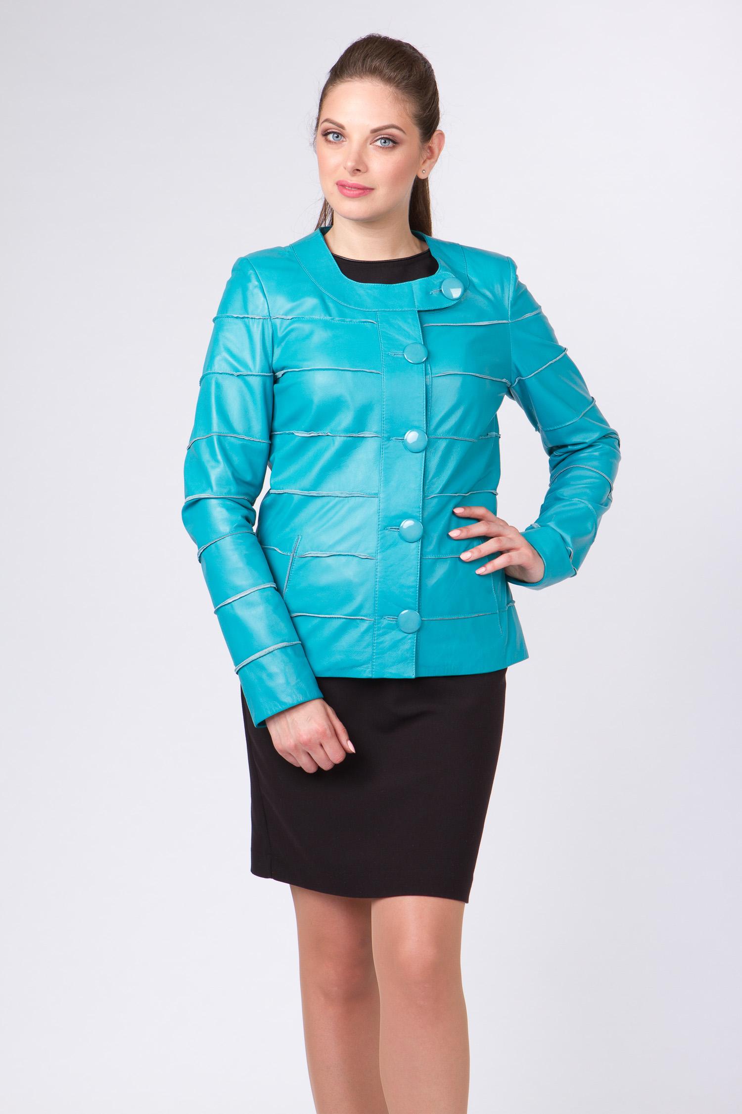 Купить со скидкой Женская кожаная куртка из натуральной кожи без воротника, без отделки