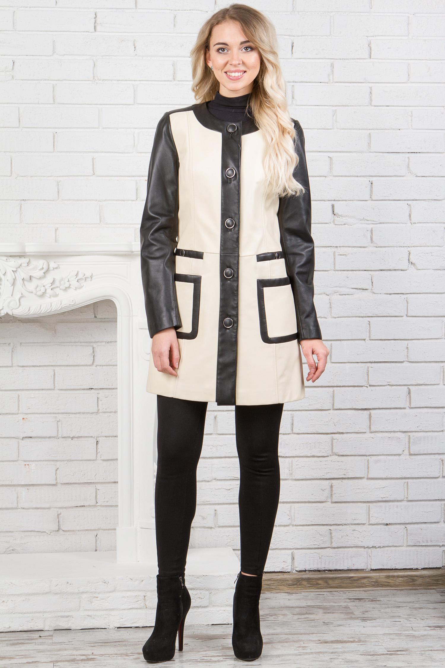 Купить со скидкой Женское пальто из натуральной кожи с воротником, отделка кролик