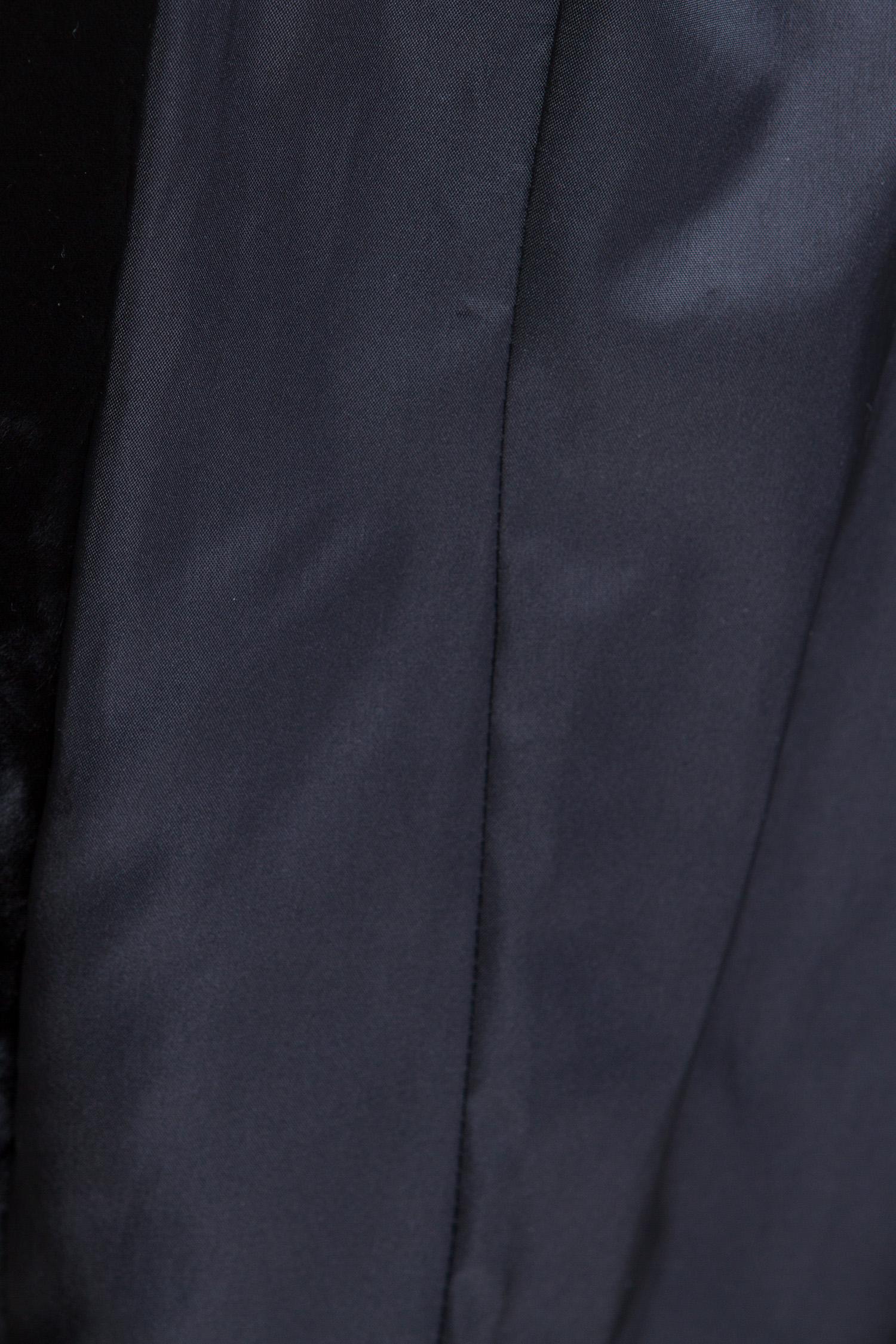 Шуба из астрагана с капюшоном, без отделки от Московская Меховая Компания
