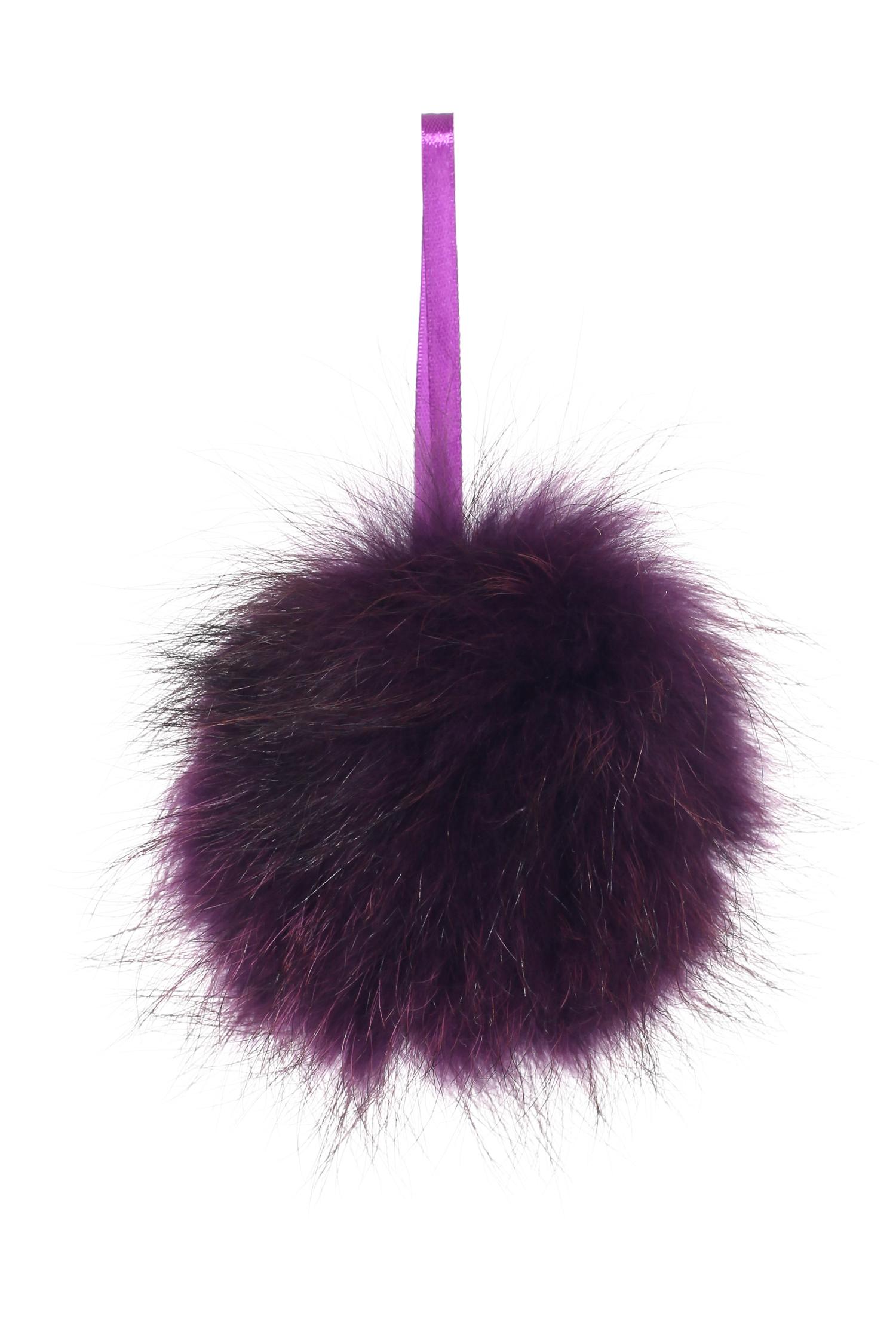 Брелок из меха енота<br><br>Материал: Енот<br>Цвет: фиолетовый<br>Пол: Женский