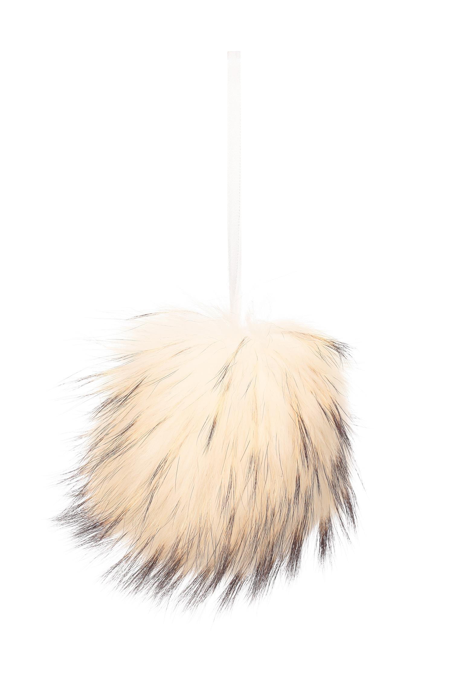 Брелок из меха енота<br><br>Материал: Енот<br>Цвет: белый<br>Пол: Женский