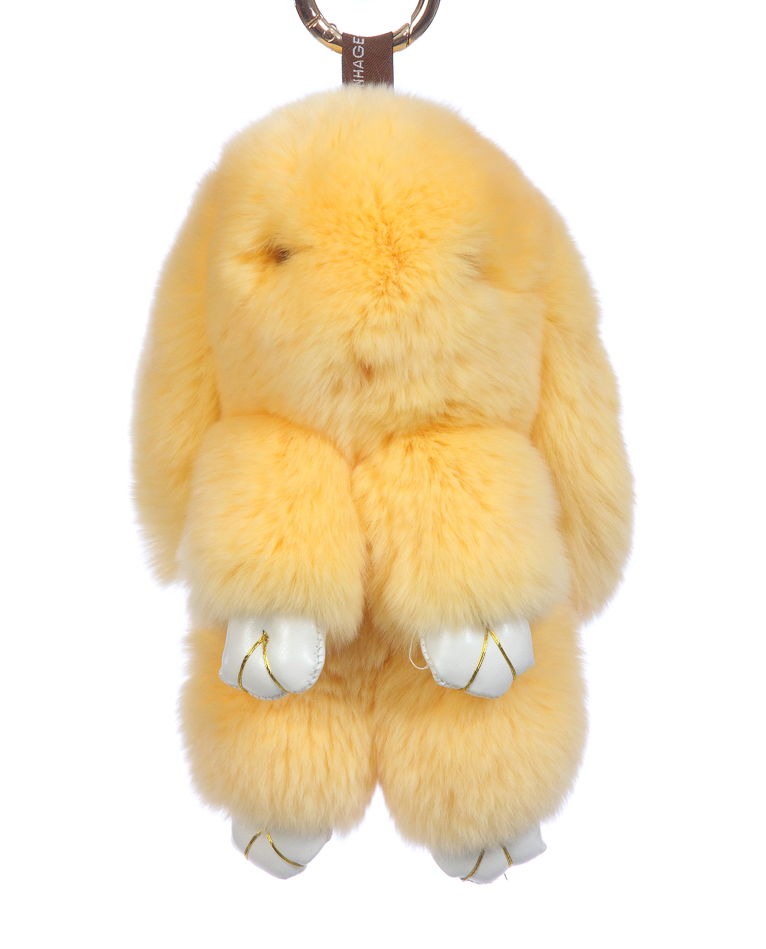 Брелок из меха кролика<br><br>Материал: Кролик<br>Цвет: молочный<br>Пол: Женский