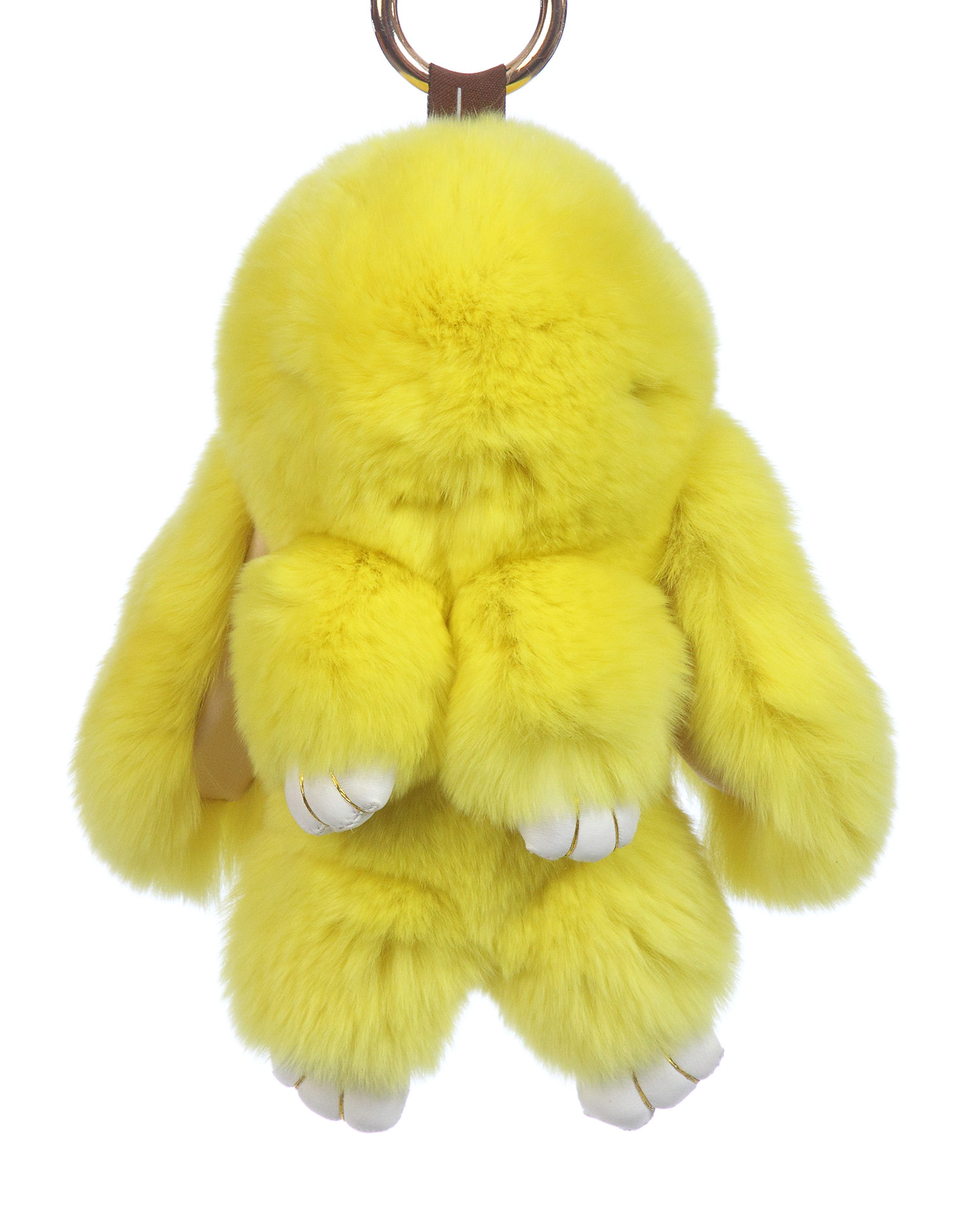 Брелок из меха кролика<br><br>Материал: Кролик<br>Цвет: желтый<br>Пол: Женский