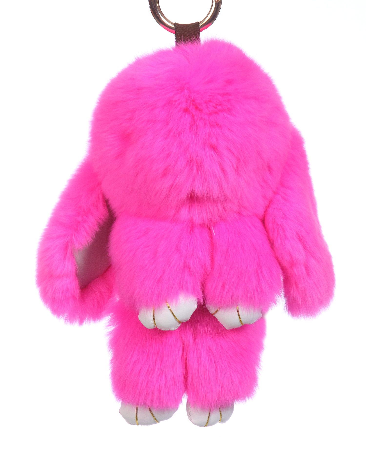 Брелок из меха кролика<br><br>Материал: Кролик<br>Цвет: фуксия<br>Пол: Женский