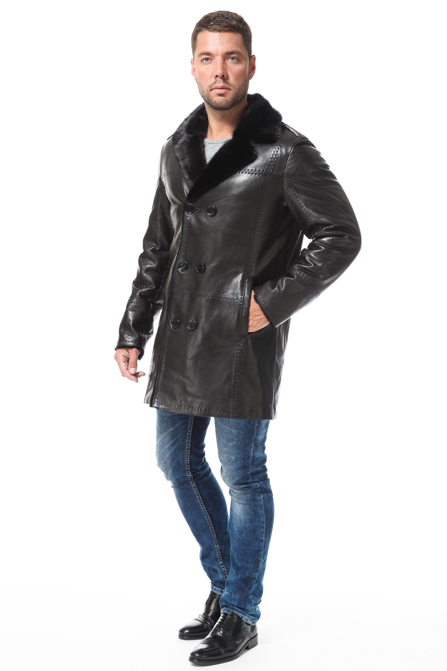 Спортивная кожаная куртка